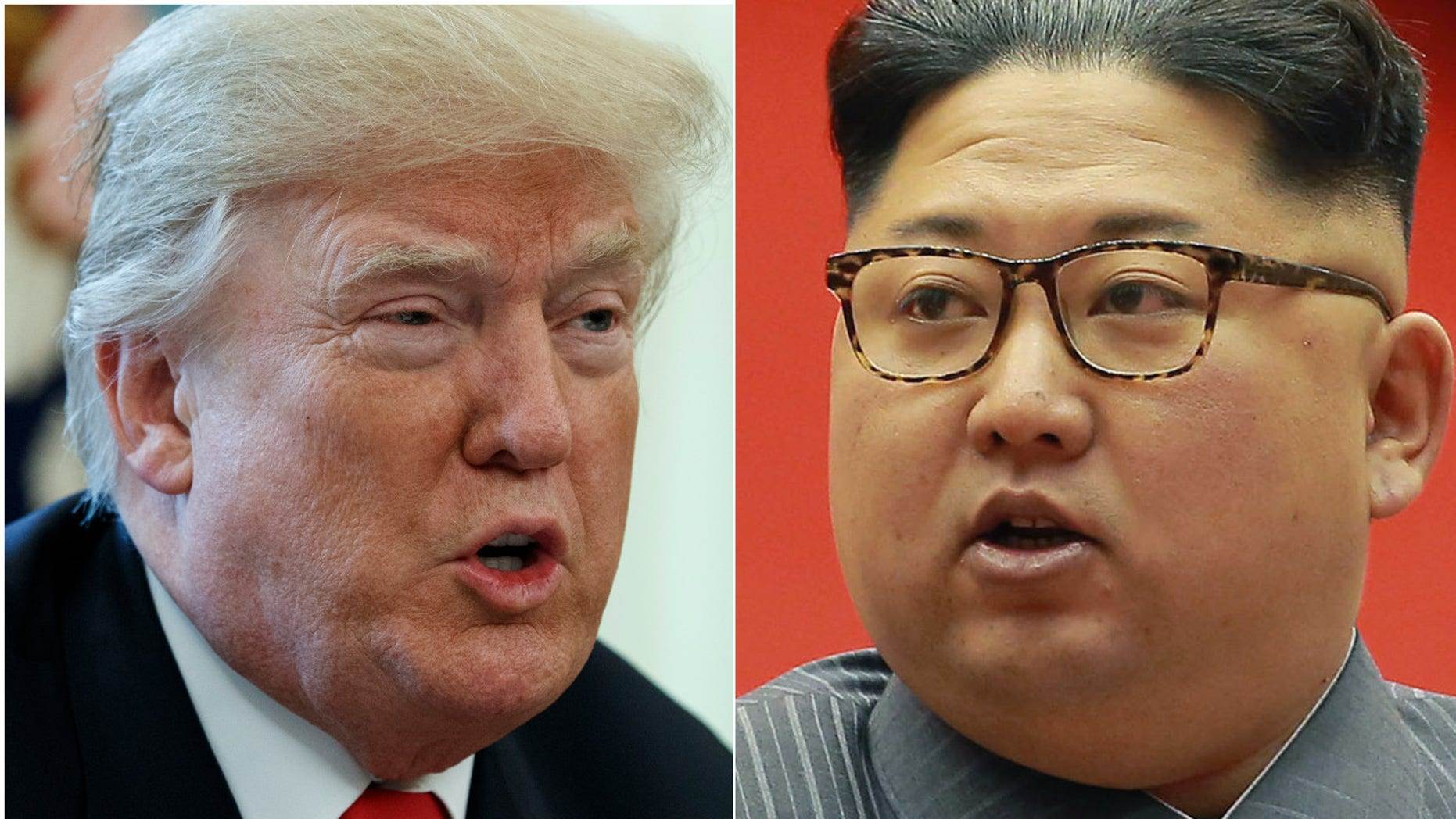 """President Trump, left, says sanctions on North Korea are having a """"big impact,"""" as the rogue regime's dictator Kim Jong Un warns of his nuclear capabilities."""