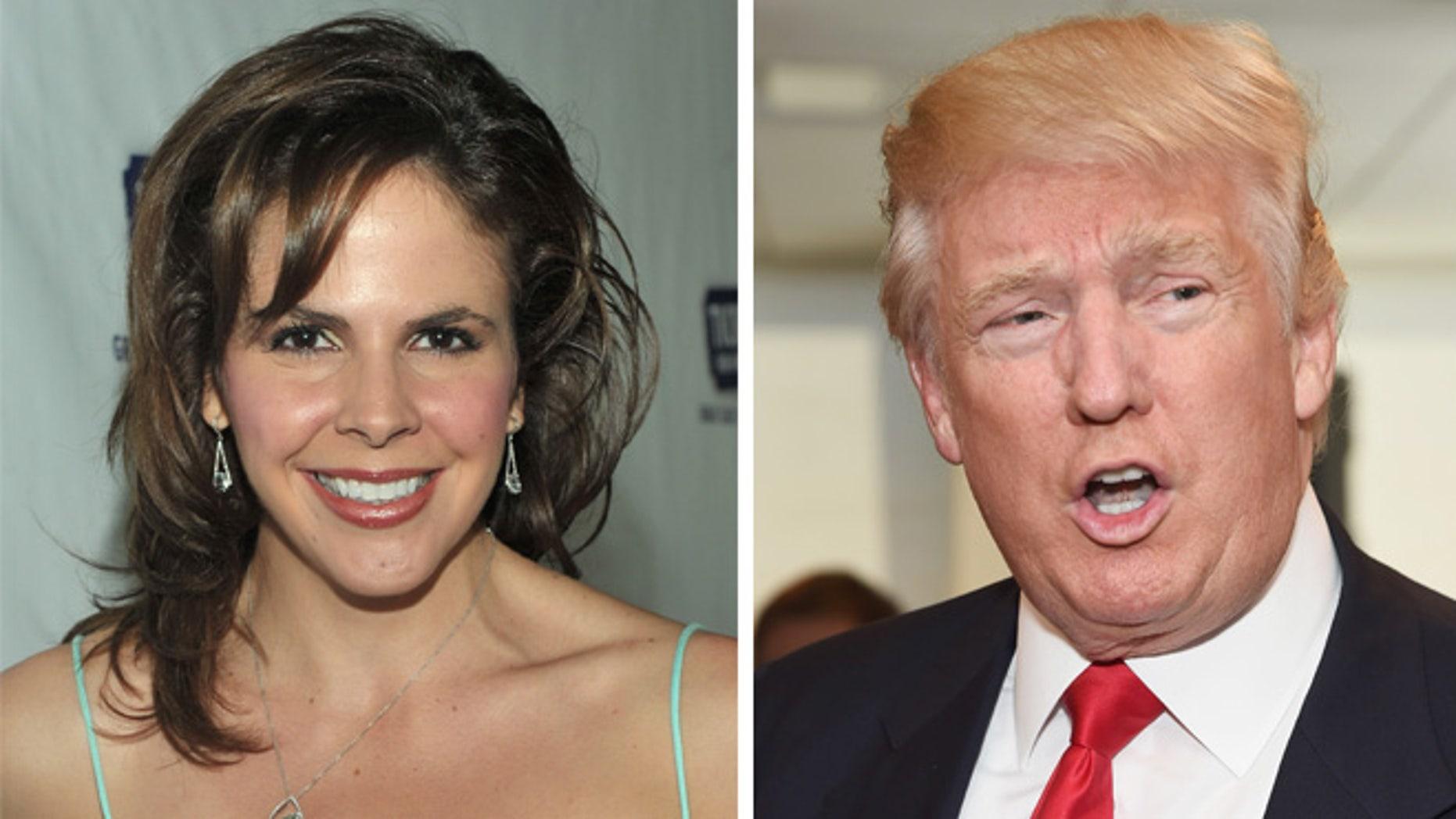 Former Miss Arizona and Miss USA contestant Tasha Dixon, left, and Donald Trump. (Photos: Getty Images)