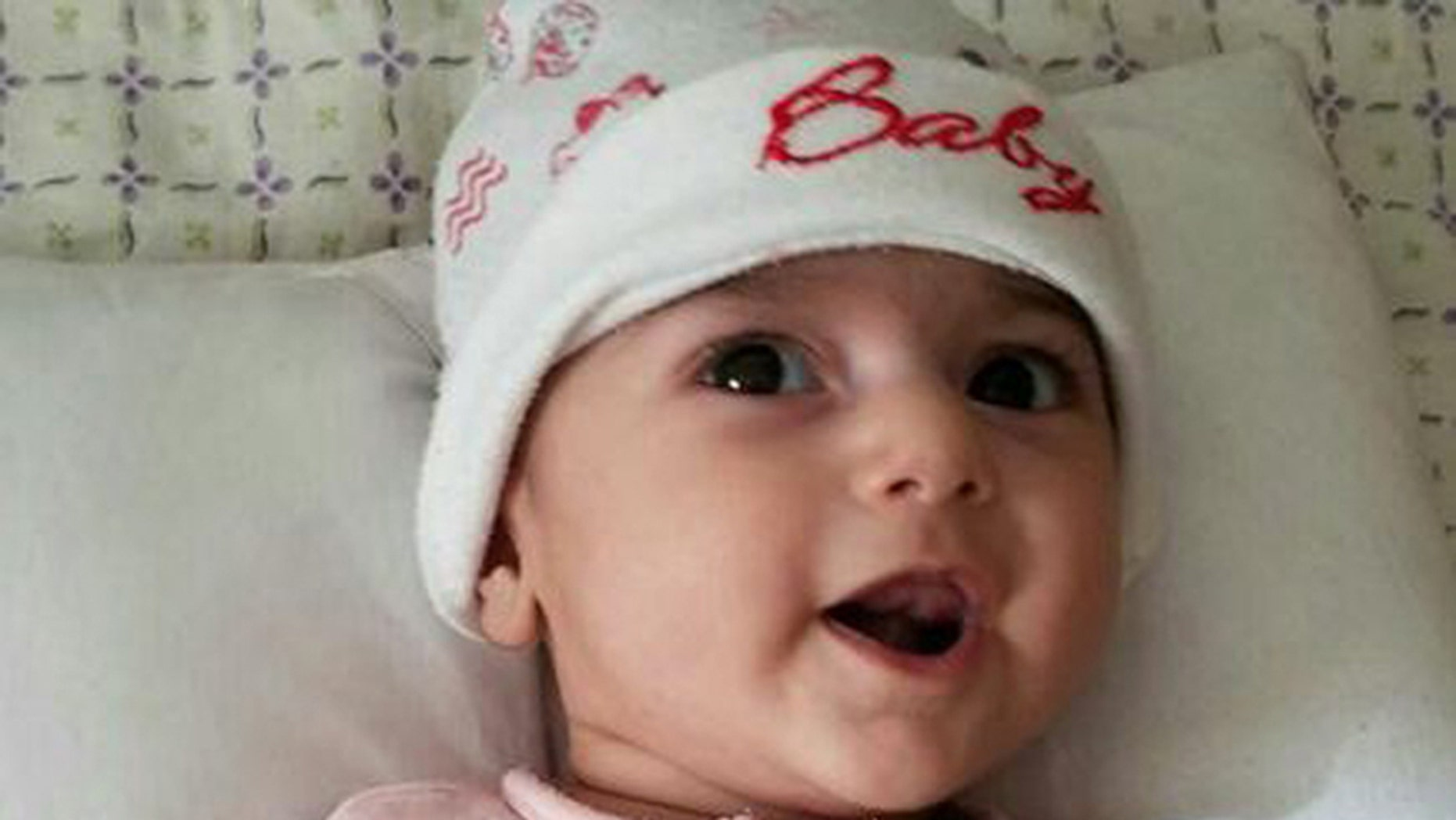 Feb. 7, 2017: This undated photo provided by OHSU Doernbecher and the Reshad Family shows Fatemeh Reshad, an infant from Iran with a life-threatening heart condition.