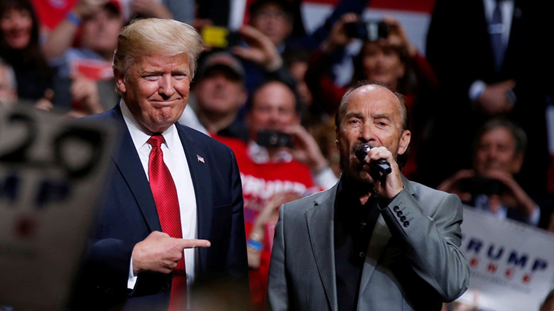 "President Trump tried to send birthday wishes to singer Lee Greenwood, who once sang his song ""God Bless the USA"" at a Trump rally earlier this year."