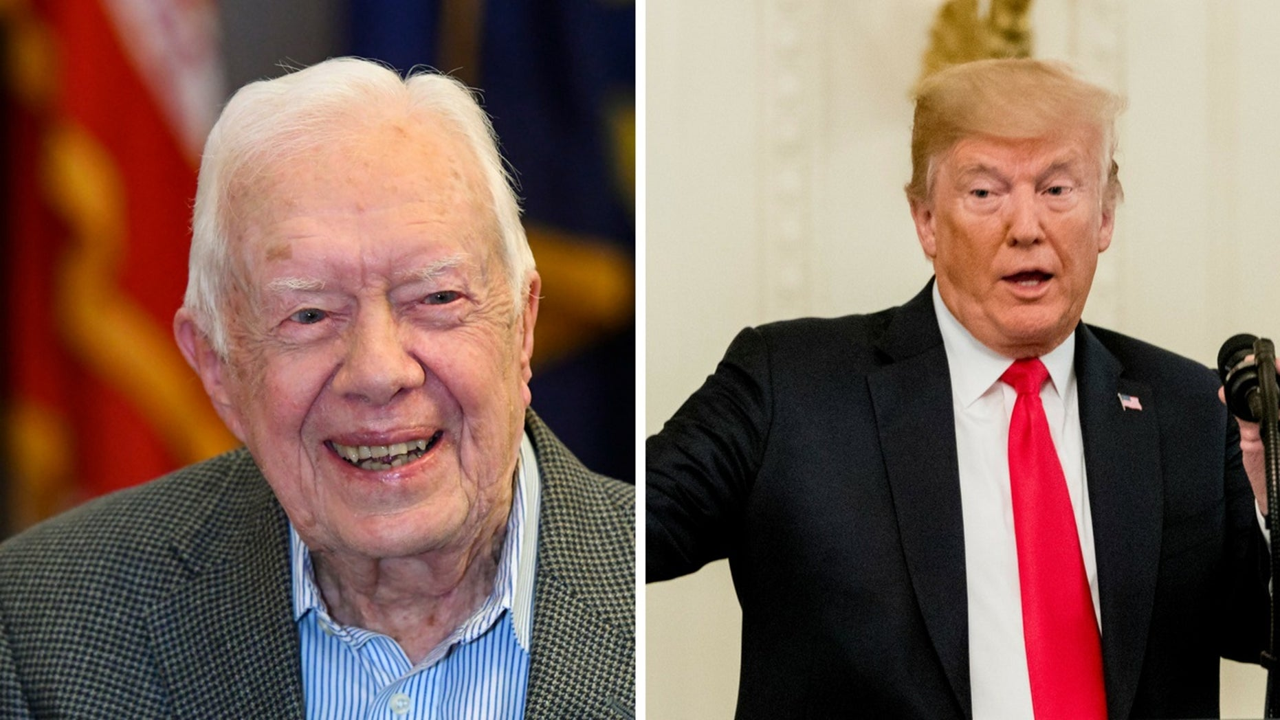 "Jimmy Carter criticized President Trump in a recent interview, saying he thought the commander in chief was a ""disaster in human rights and taking care of people and treating people equal."""