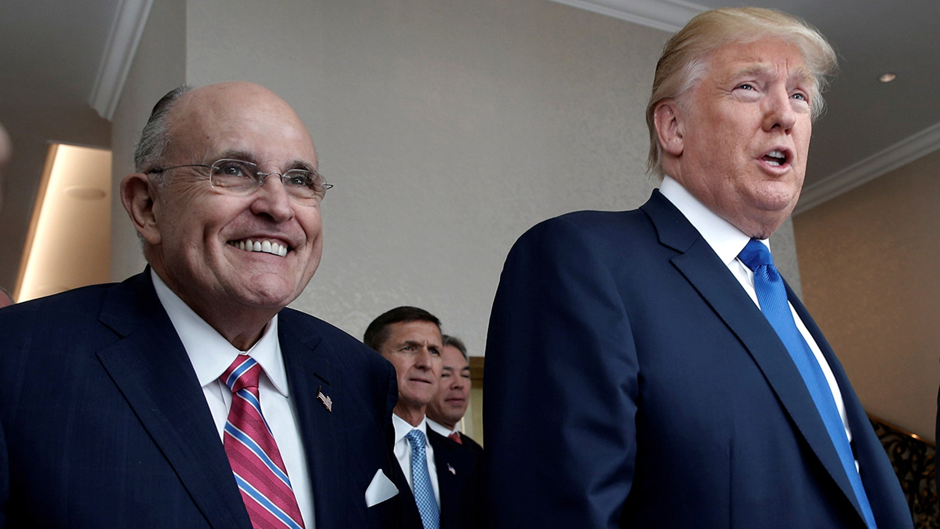 Rudy Giuliani, seen above with President Trump in April, revealed details of Trump's burger order to The Washington Post.