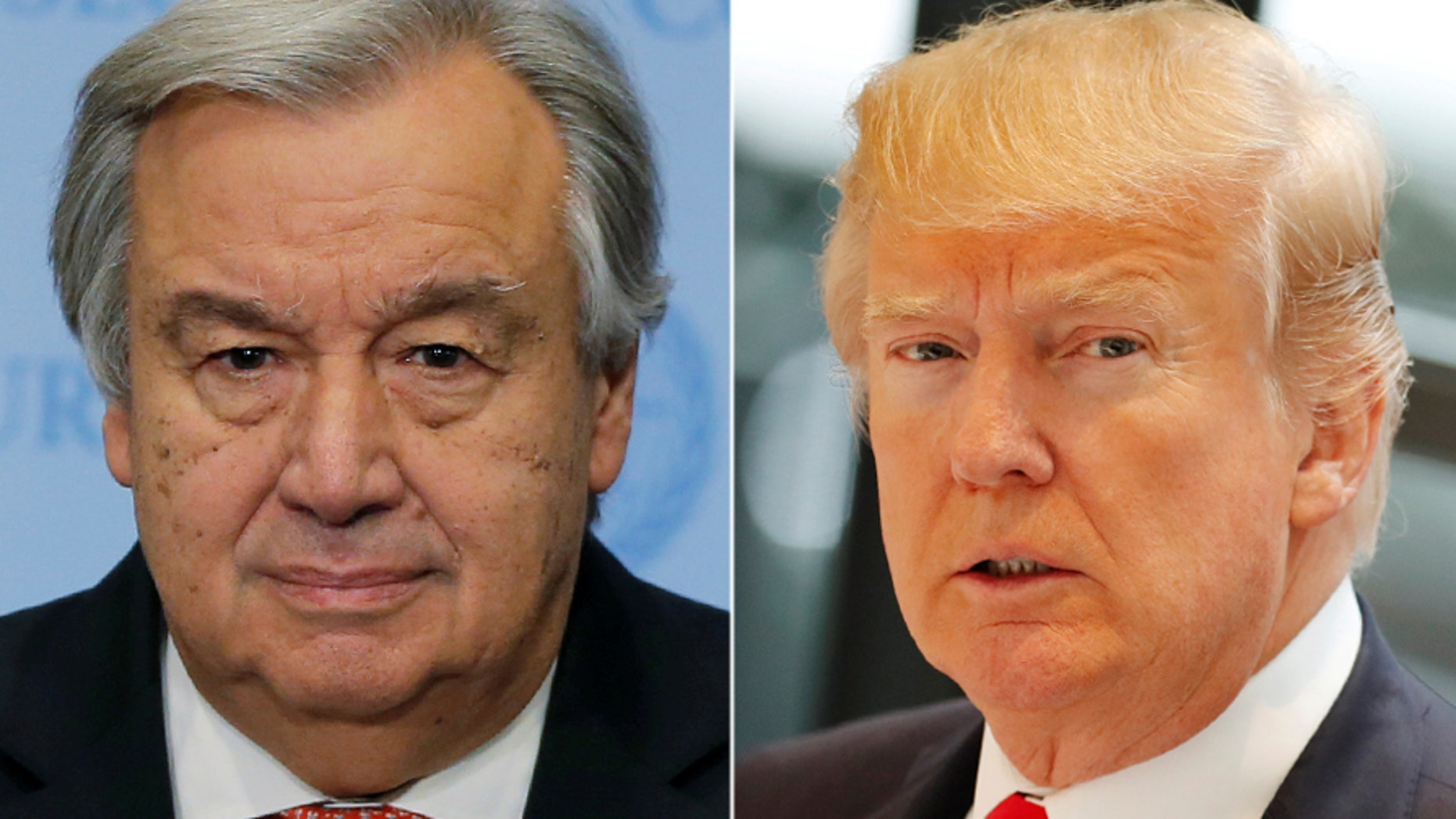 United Nations Secretary-General António Guterres & U.S. President Donald Trump.