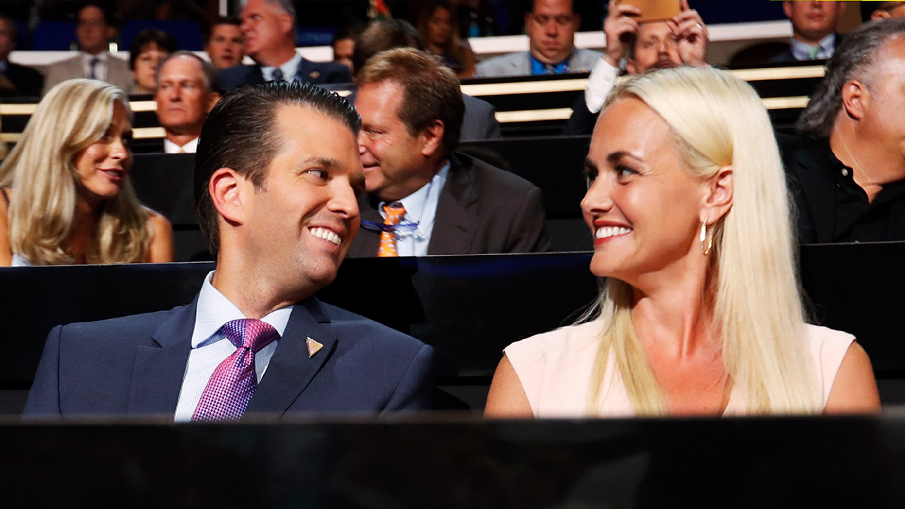 Vanessa and Donald Trump Jr. shared photos on social media ahead of Oct. 31 of their kids in all-Ameican costumes.