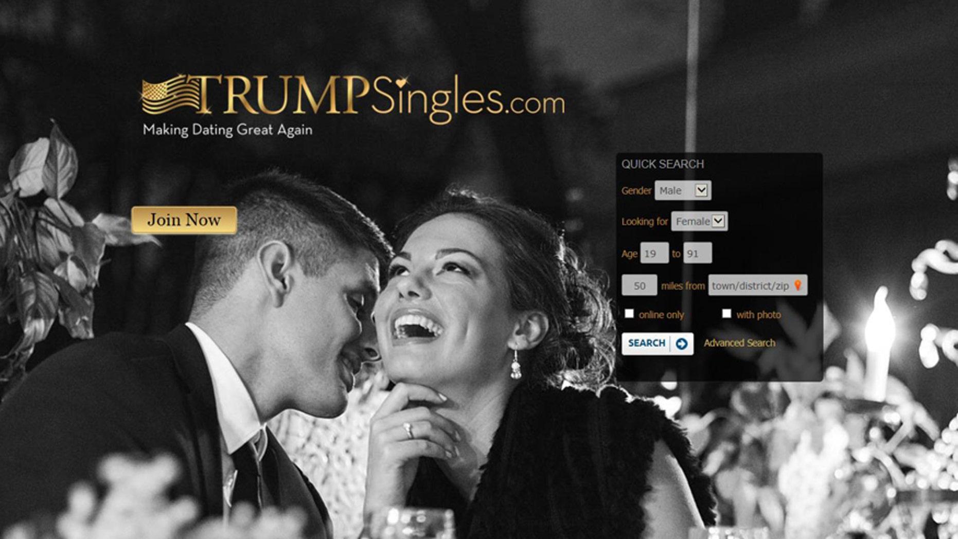 (Screenshot from www.trumpsingles.com)