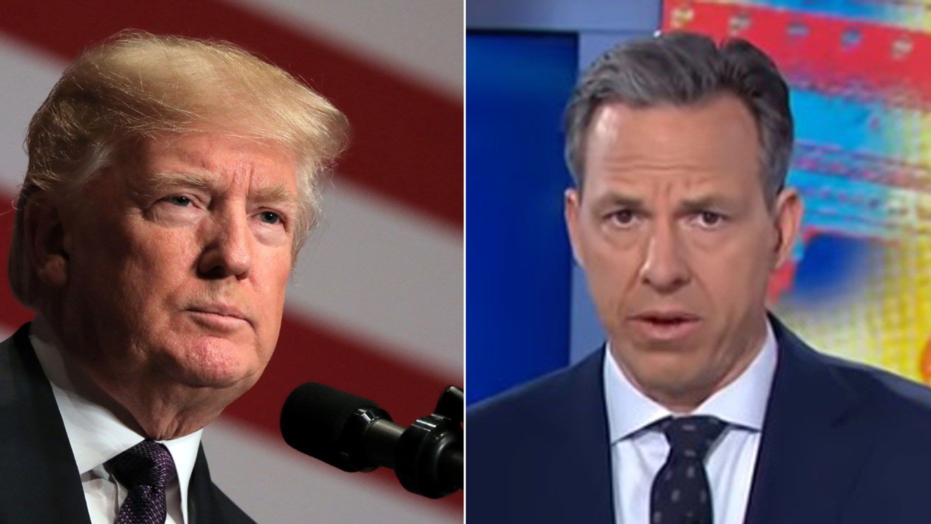 President Trump took a new shot at CNN anchor Jake Tapper on Sunday.