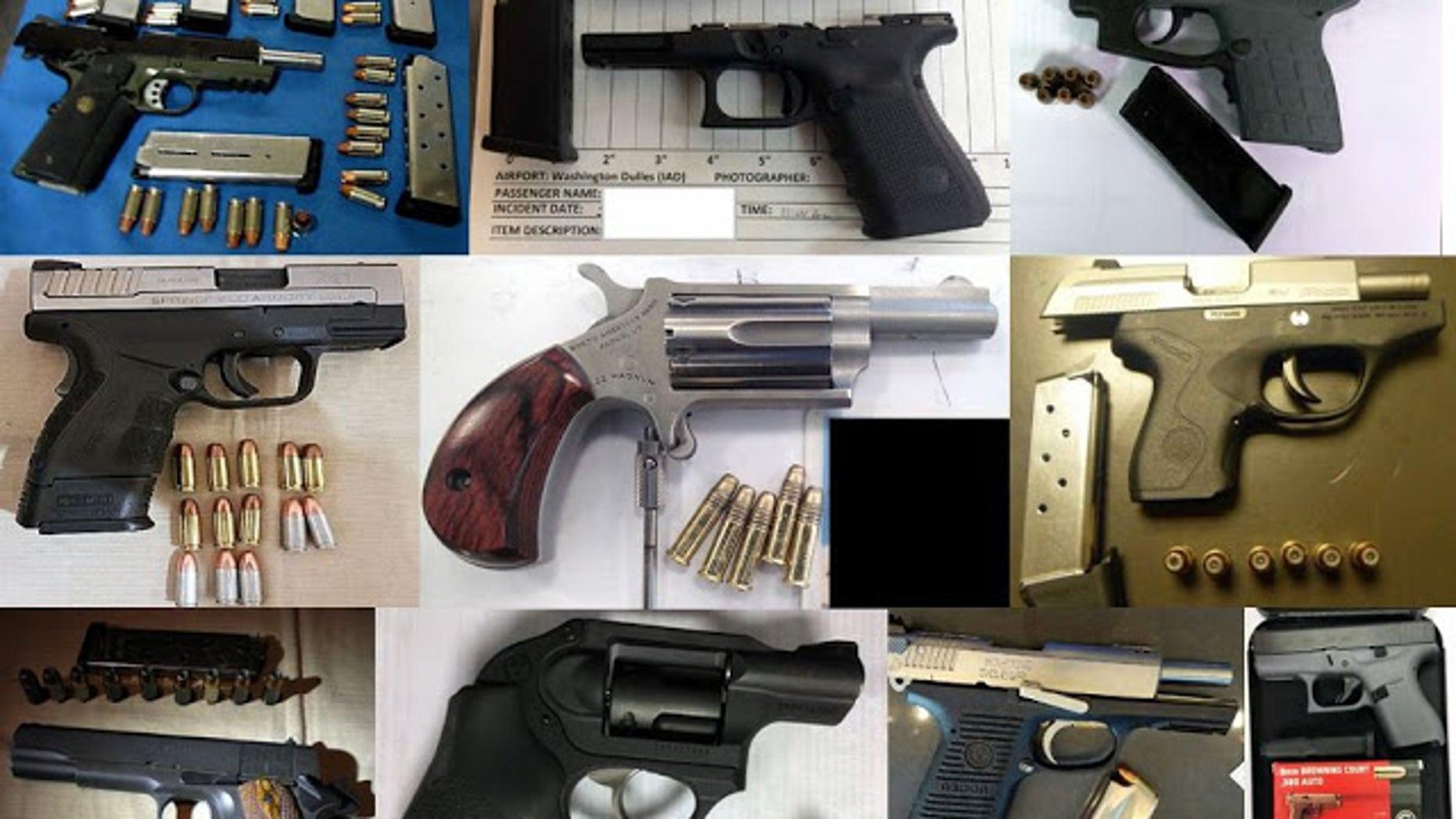 The TSA discovered 79 firearms last week.
