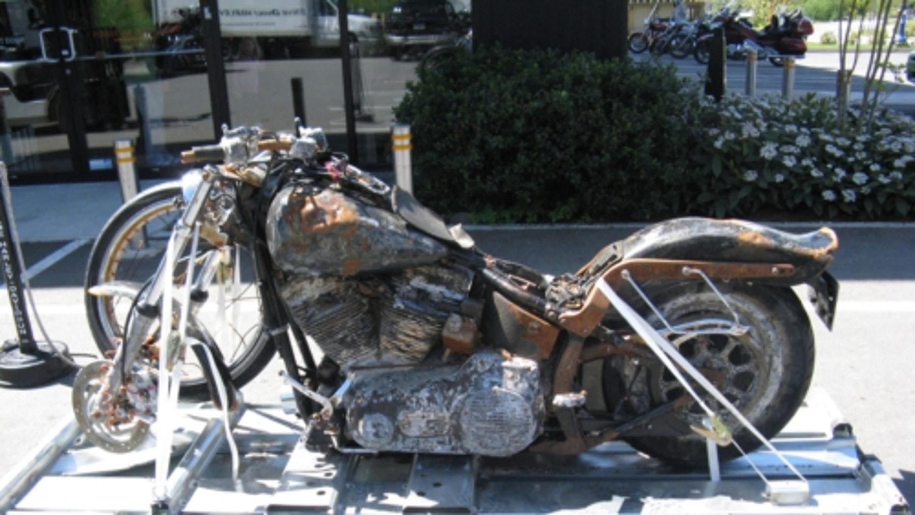 Ikuo Yokoyama's Harley-Davidson motorcycle to be preserved as a memorial at the H-D Museum.  (PRNewsFoto/Harley-Davidson)