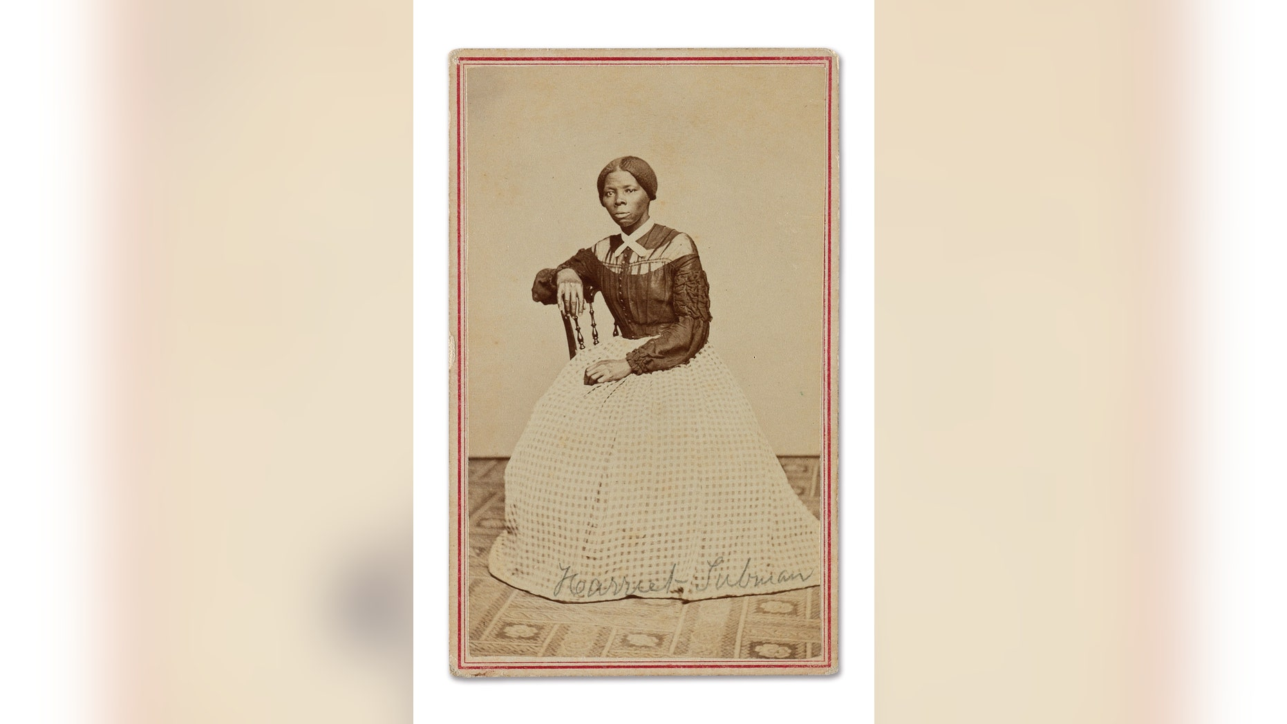 The newly surfaced photo of Harriet Tubman (Courtesy of Swann Auction Galleries).