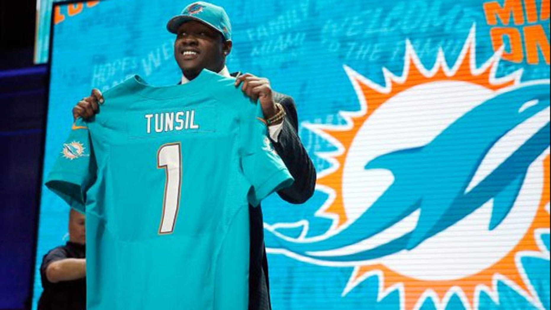 Ole Miss offensive tackle Laremy Tunsil was seen by some experts as the best player in the draft, but his stock dropped after video of him smoking pot surfaced. (AP)