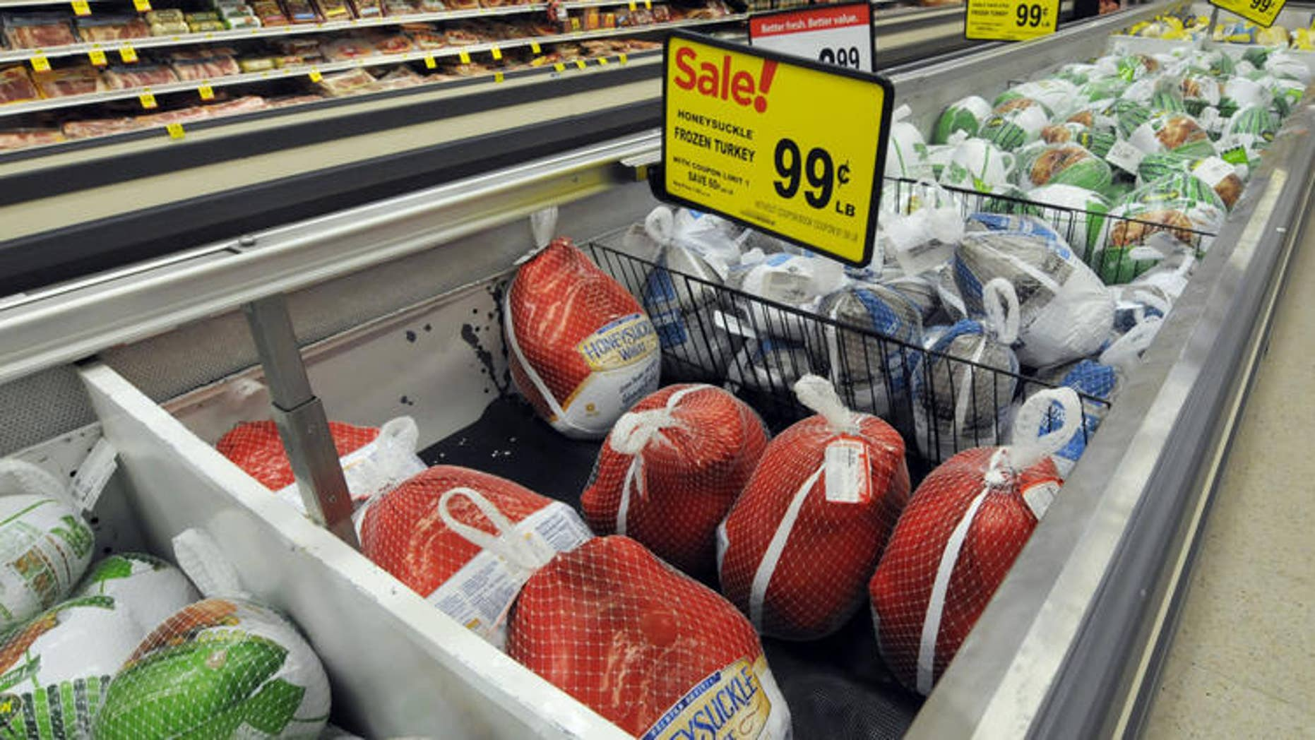 Frozen turkeys are likely to be much less expensive than fresh birds this Thanksgiving.