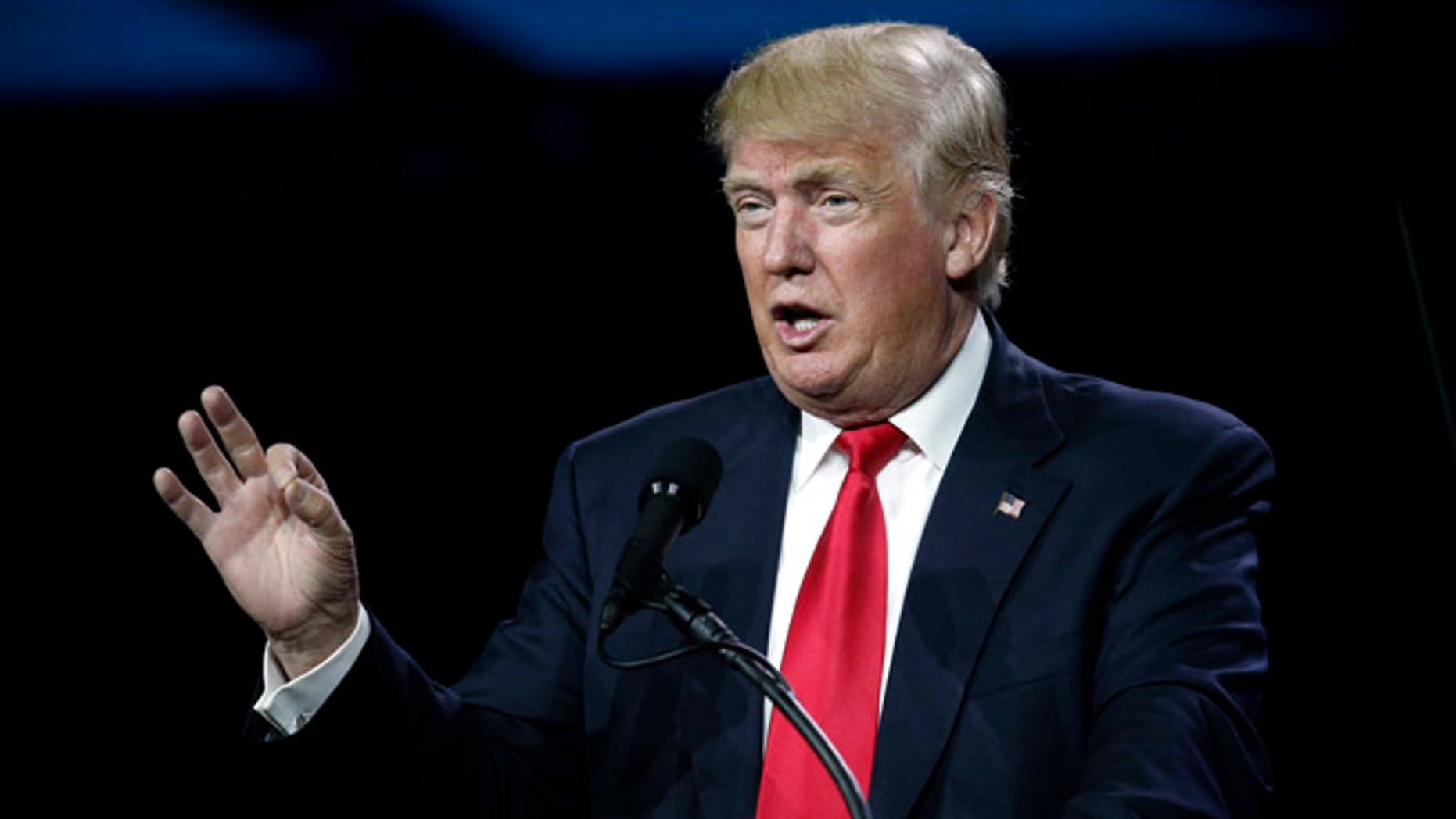 In this July 1, 2016, photo, Republican presidential candidate Donald Trump speaks during the opening session of the Western Conservative Summit in Denver. Once a swing state in presidential elections, Colorado has teetered on the brink of becoming solidly Democratic. Trump may have pushed it over the edge. Trumpââ¬â¢s disparaging words about Mexicans, negative comments about women and weak campaign organization have punctuated the stateââ¬â¢s shift from a nip-and-tuck battleground to one thatââ¬â¢s Democratic-friendly. For the first time in more than 20 years, there are now more registered Democrats in the state than Republicans. (AP Photo/David Zalubowski)