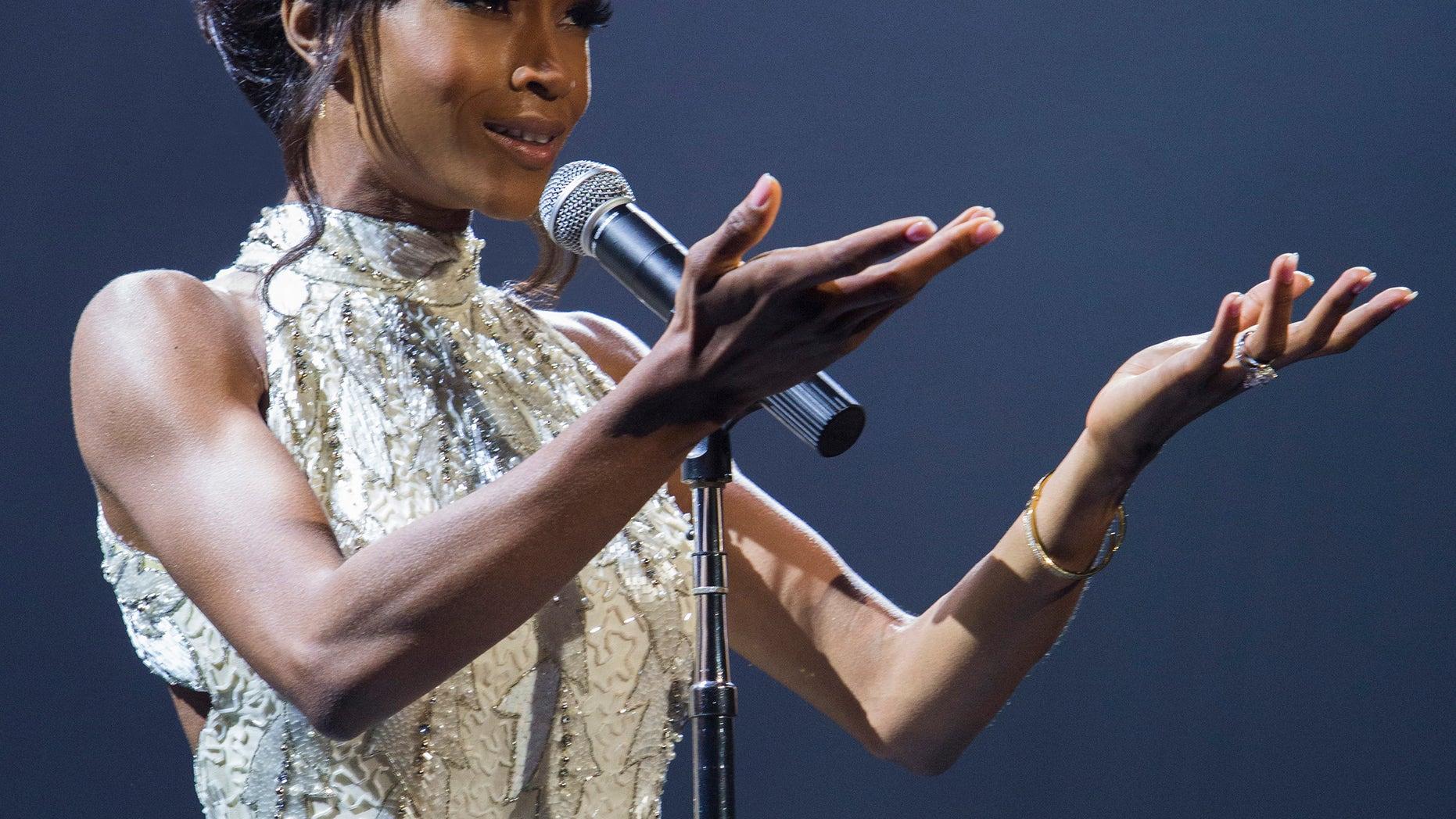 "Yaya DaCosta stars as Whitney Houston in the Lifetime Original Movie, ""Whitney."""