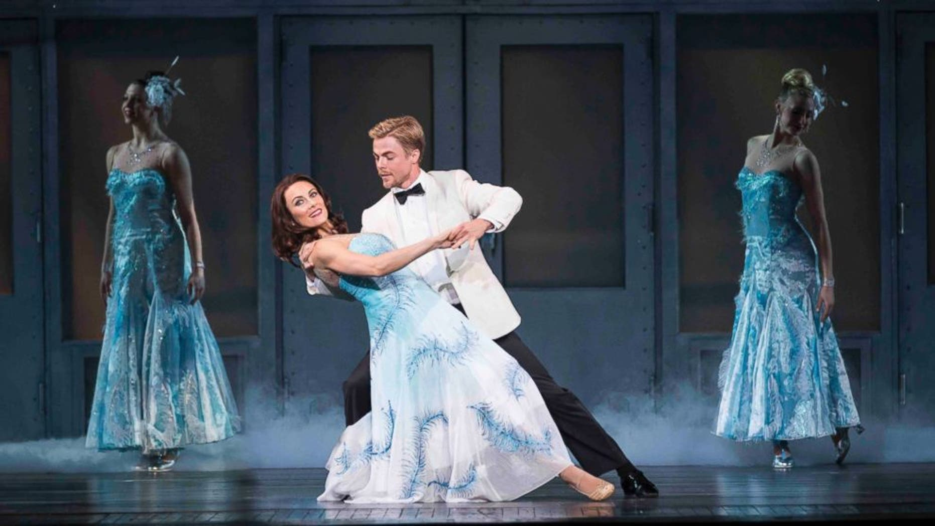 Laura Benanti, left, and Derek Hough, in a rehearsal for the New York Spring Spectacular at Radio City Music Hall in N.Y.