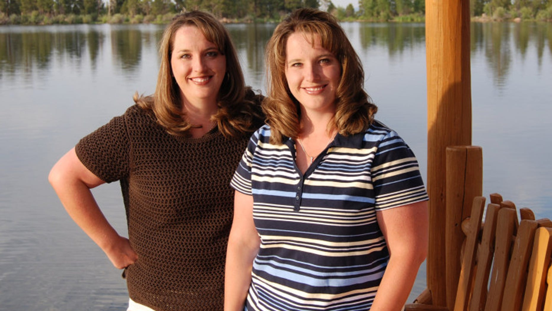 Twin sisters Kelli Wall, left, and Kerri Bunker are shown in this undated photo provided by Kerri Bunker.