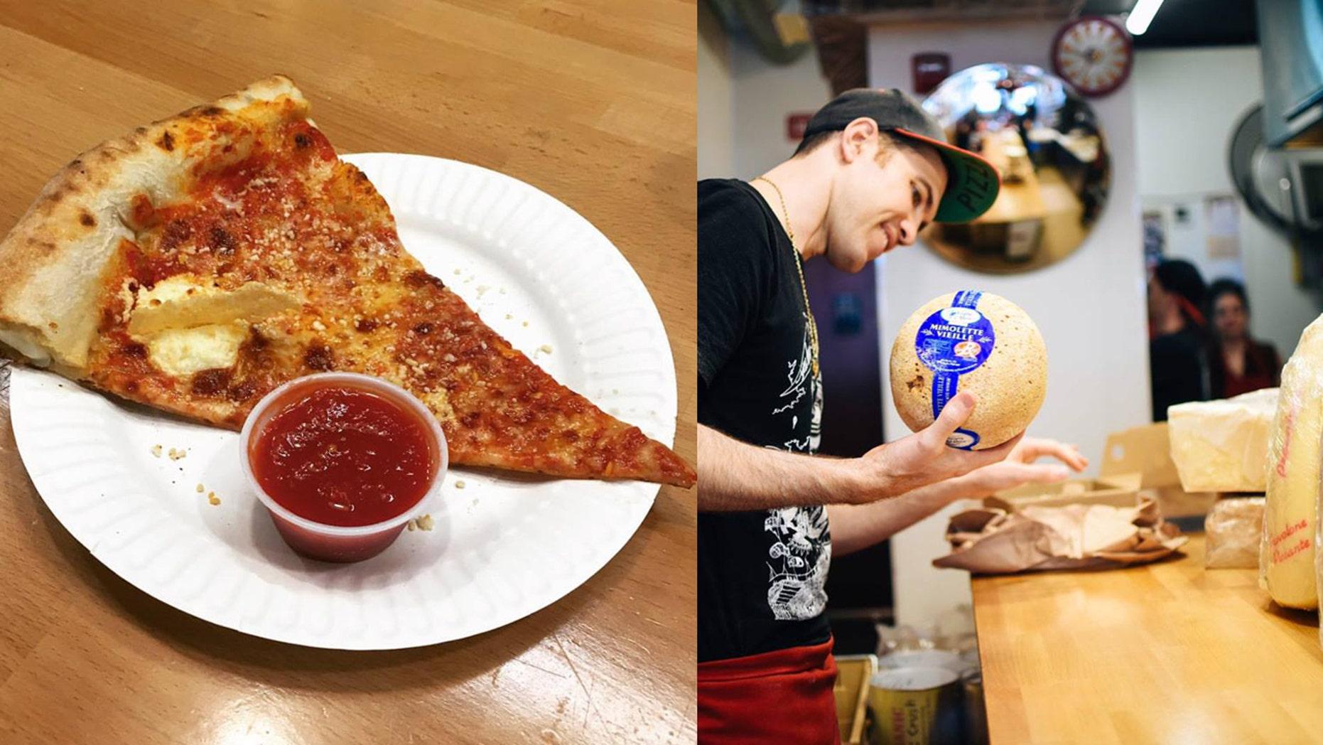 """The """"Centuono Formaggio"""" pizza features a 101 unique cheeses."""