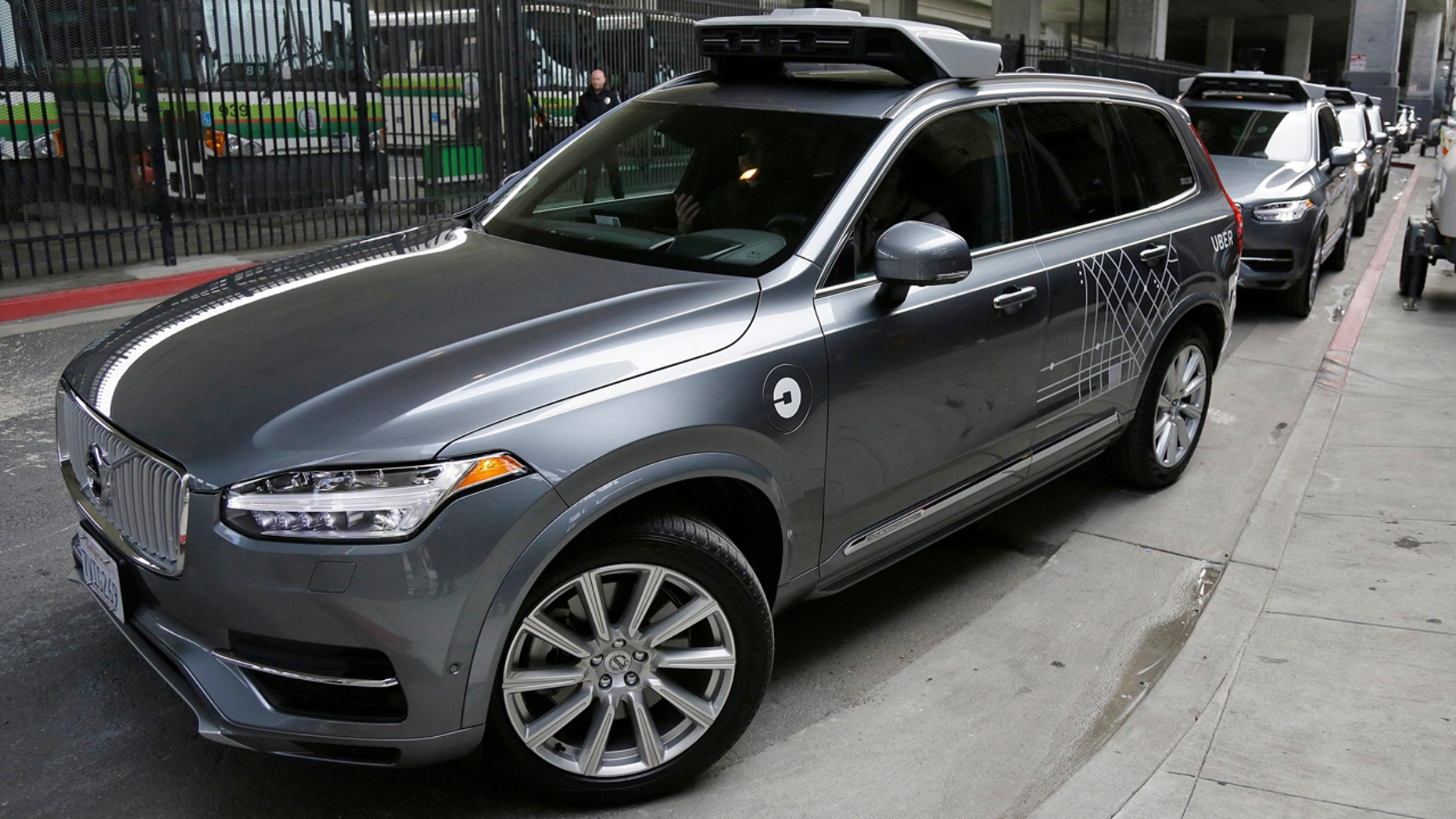 Dec. 13, 2016: An Uber driverless car heads out for a test drive in San Francisco.