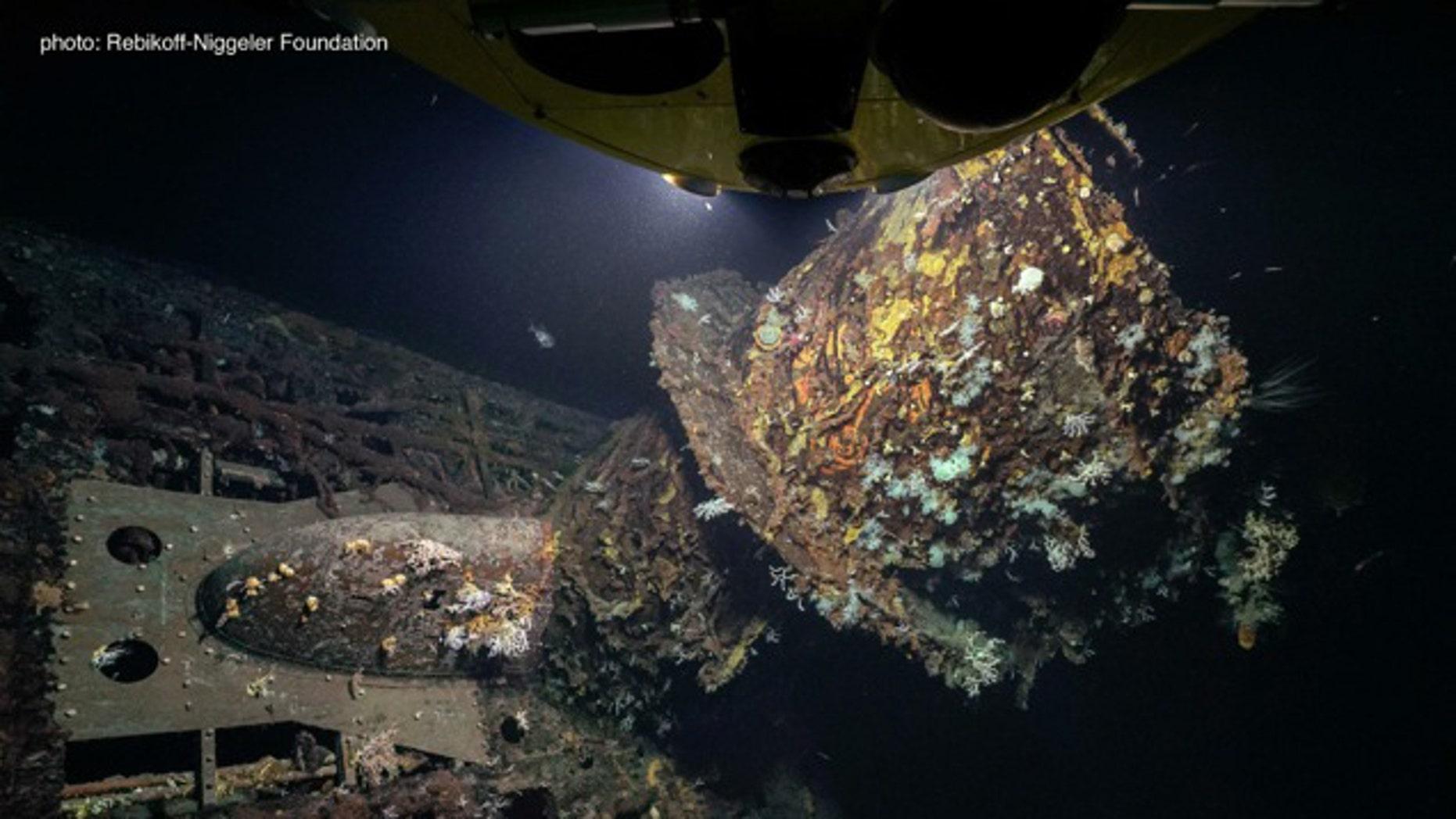The wreck of U-581 (Rebikoff-Niggeler Foundation).