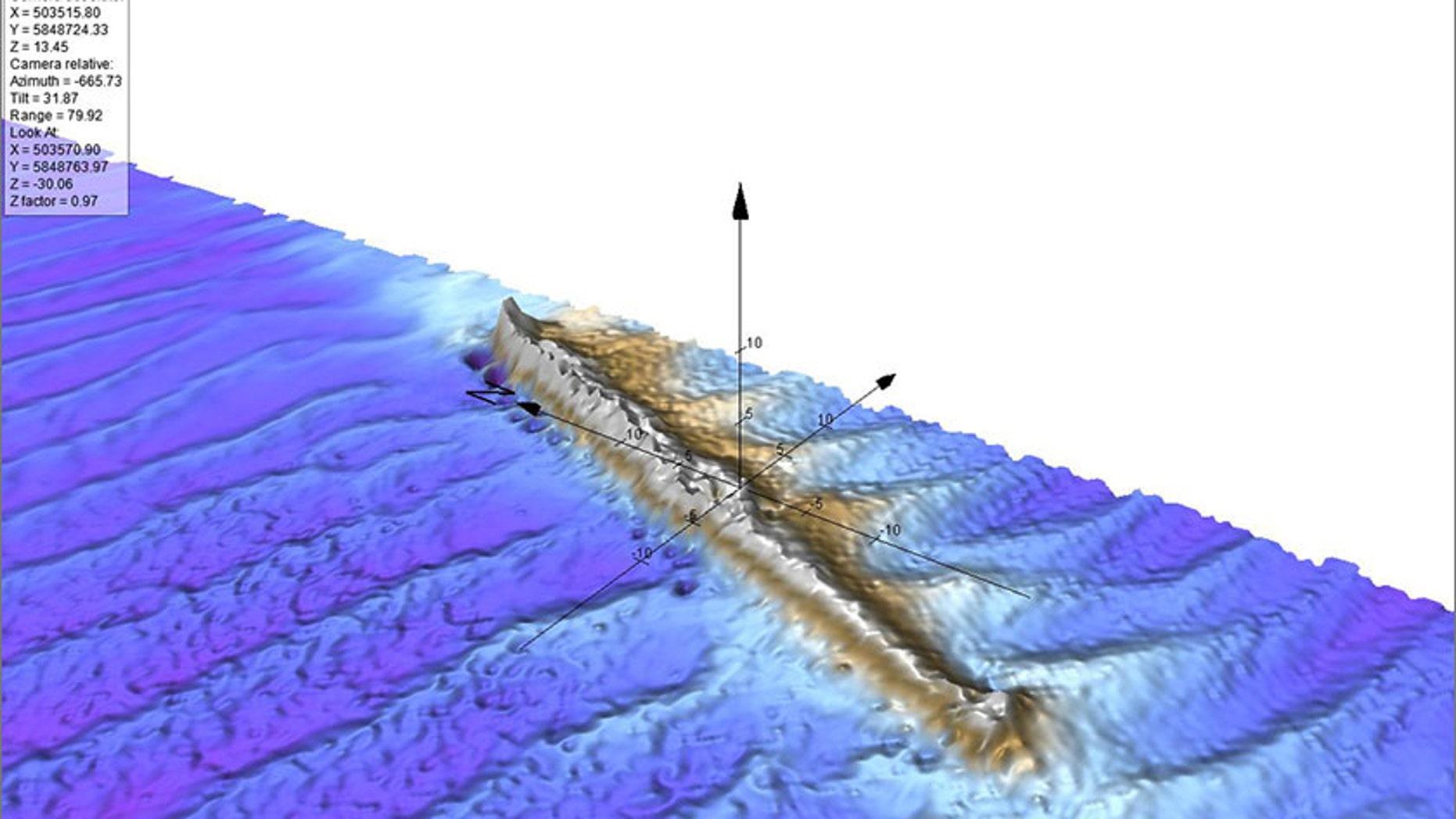 Seabed scan of U-31 wreckage (Credit: Fugro / ScottishPower Renewables)