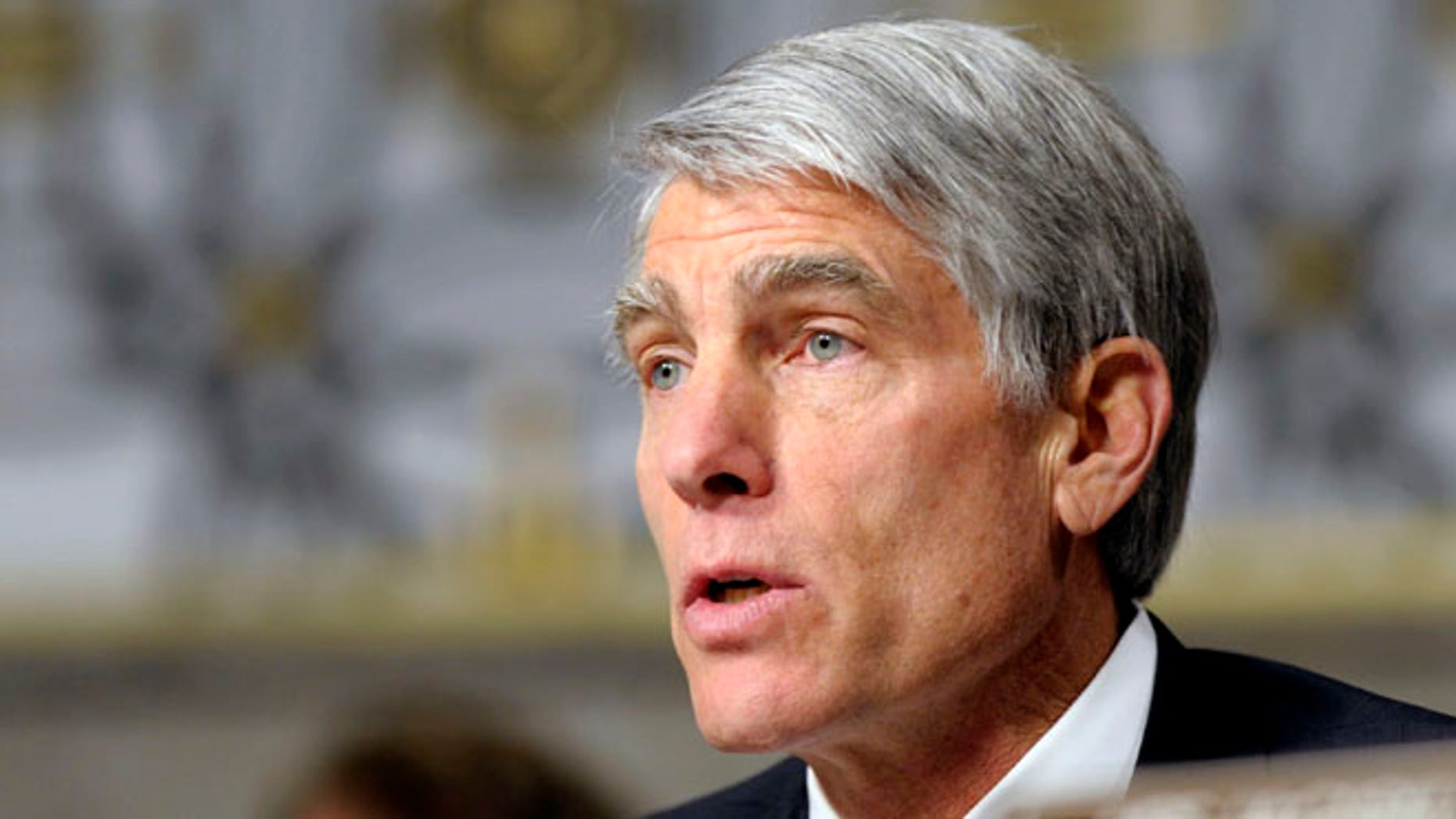 Jan. 31, 2013: Sen. Mark Udall, D-Colo., speaks on Capitol Hill in Washington.