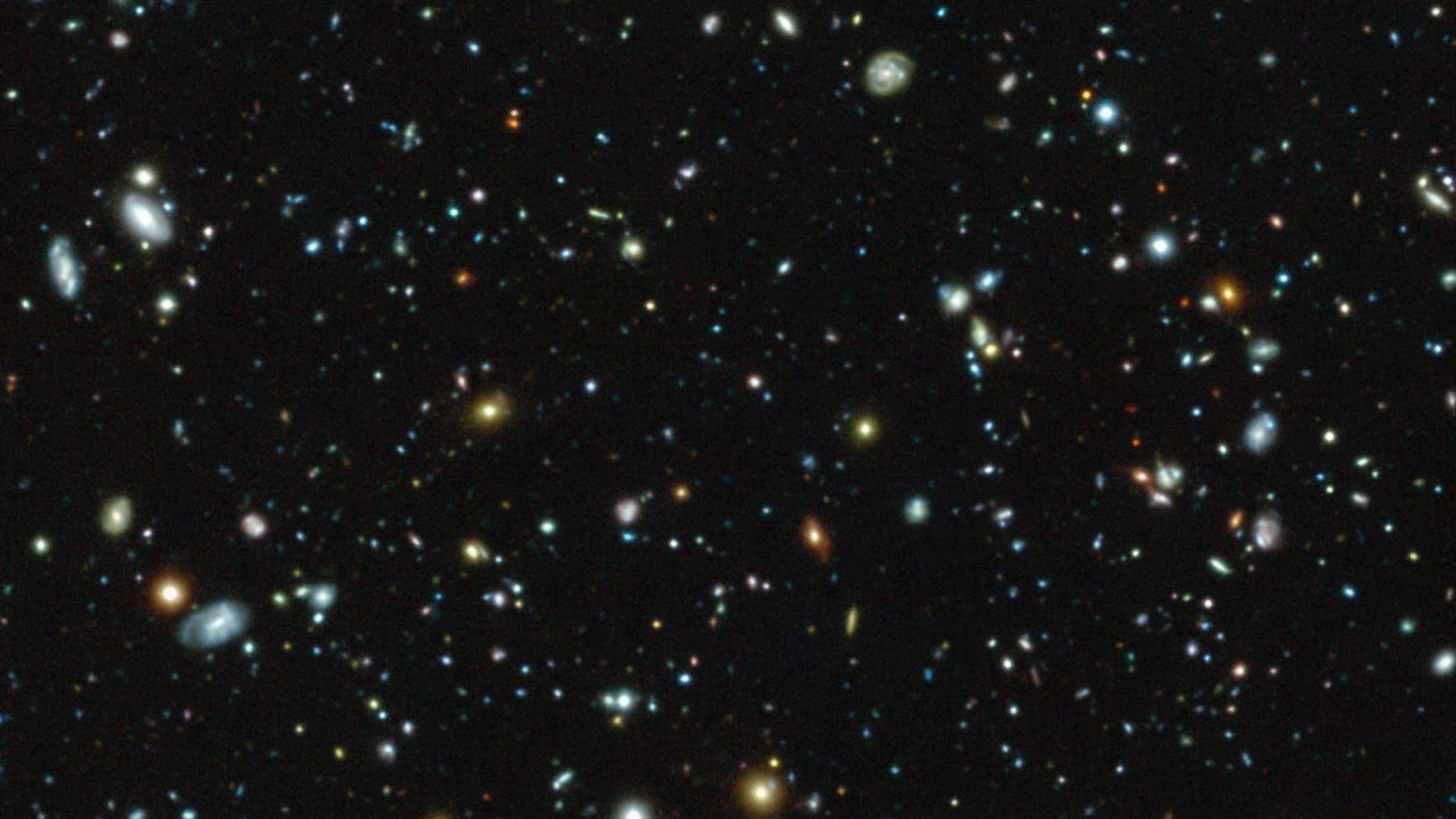 The European Southern Observatory's Muse instrument on the Very Large Telescope in Chile captured this view of galaxies in a region of sky included in the Hubble Space Telescope's Ultra Deep Field survey. Muse discovered 72 never-before-seen galaxies in the region.