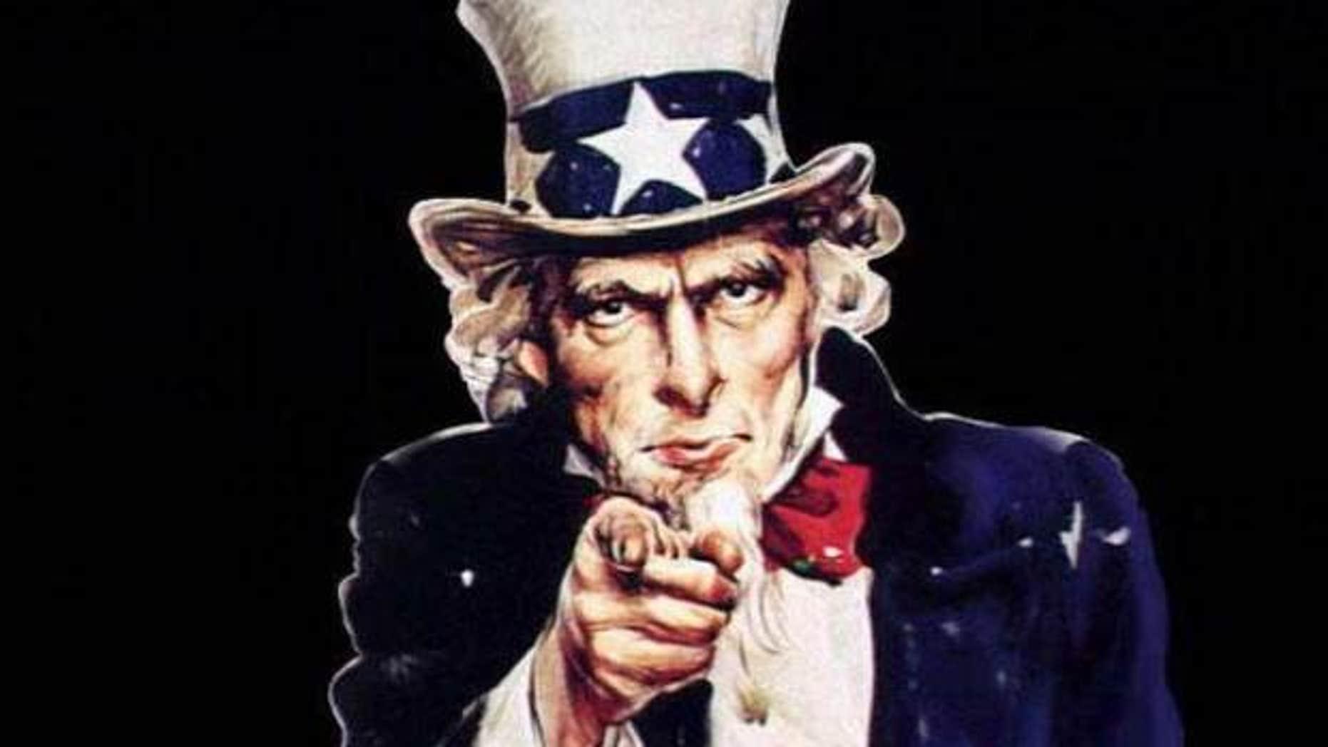 Uncle Sam portrait by James Mongomery Flagg. (AP)