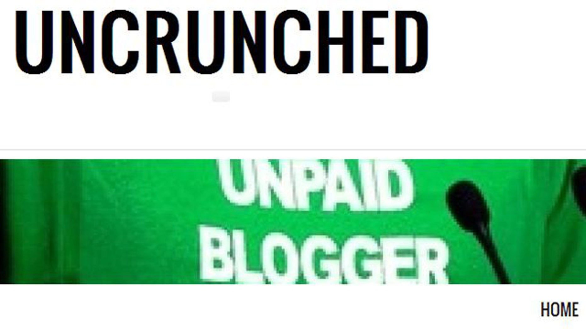 A screenshot of Michael Arrington's new website Uncrunched -- a reference to his former blog TechCrunch, which he founded in 2005.