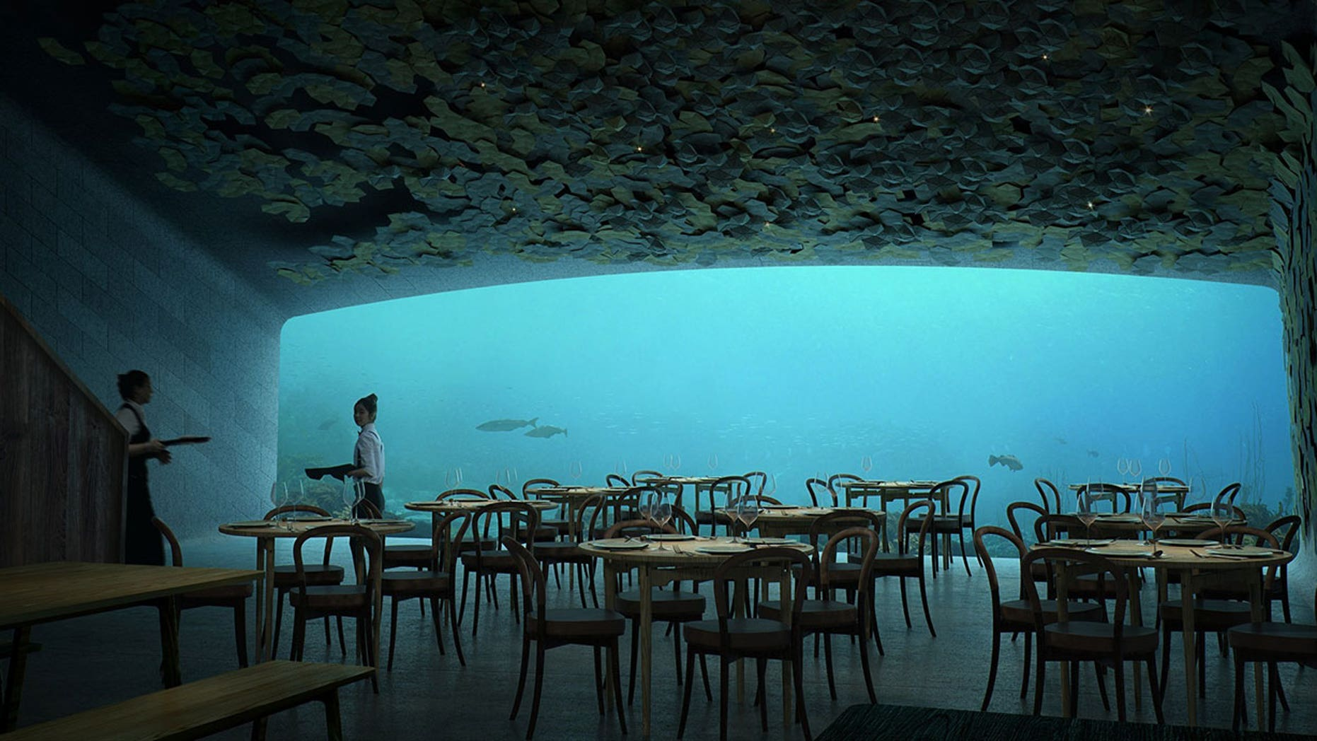 """Norway's underwater restaurant is said to be """"a tribute to the Norwegian coast."""""""