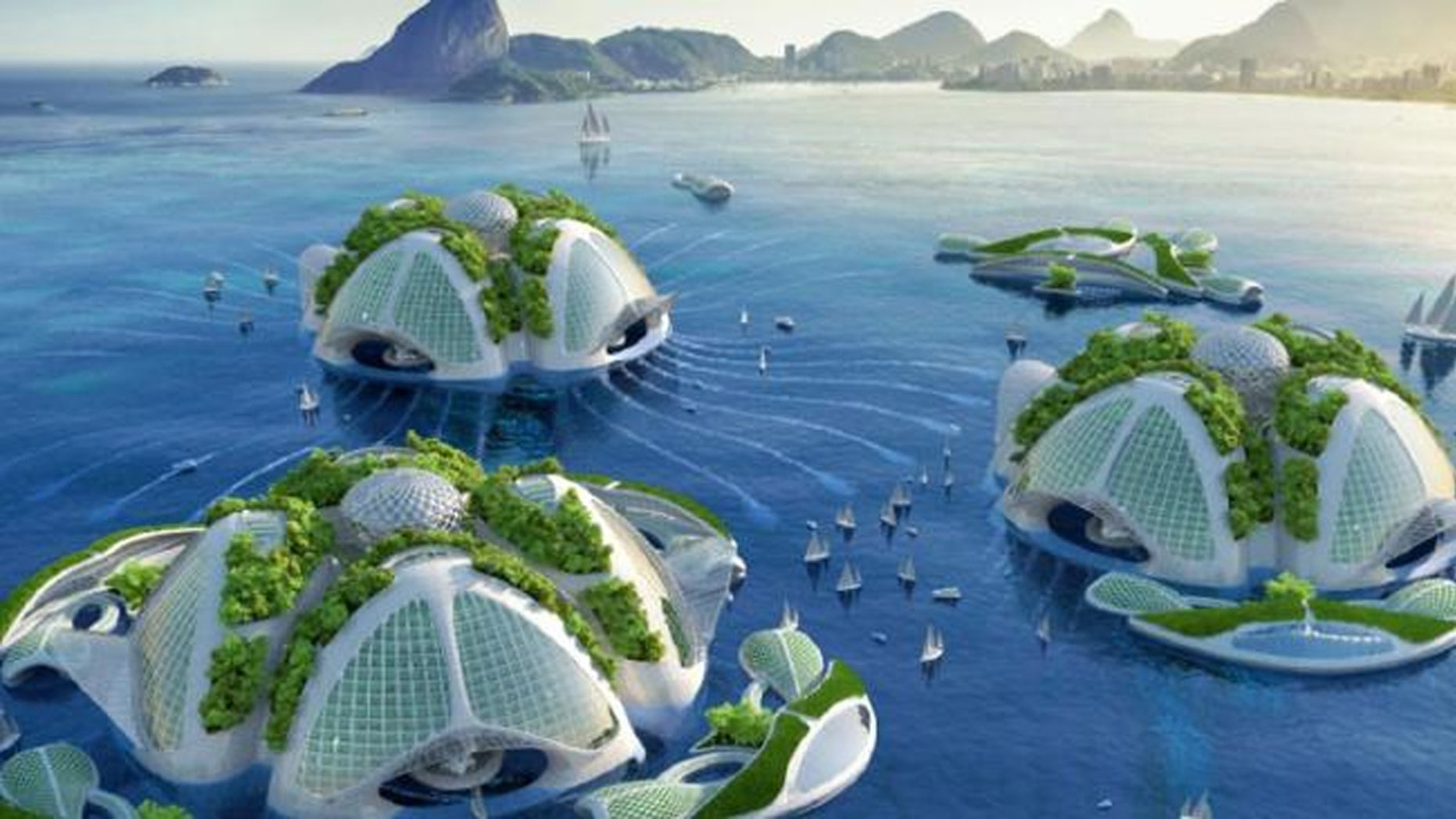 Belgian architect Vincent Callebaut has come up with ambitious plans to build futuristic ocean skyscrapers.