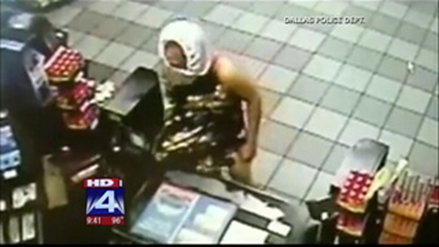 Alleged undwear-masked suspect.