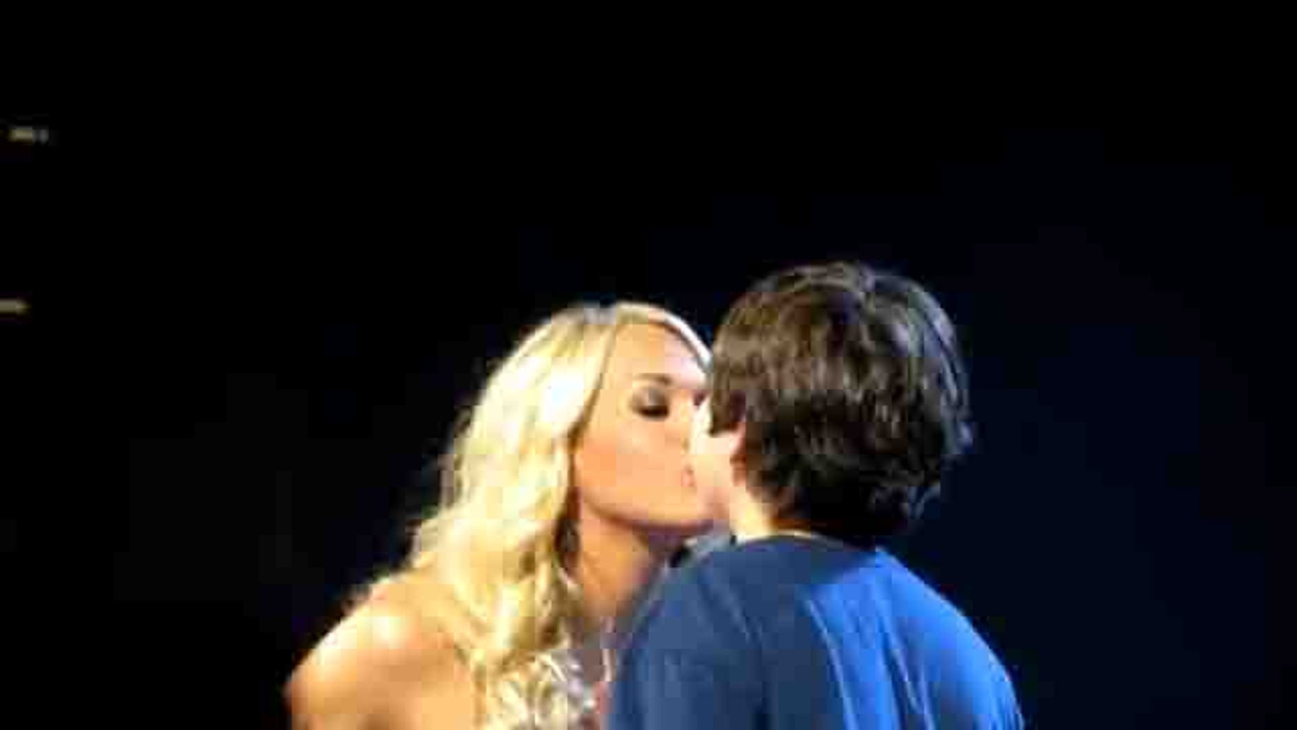 Carrie Underwood gives 12-year-old boy first kiss