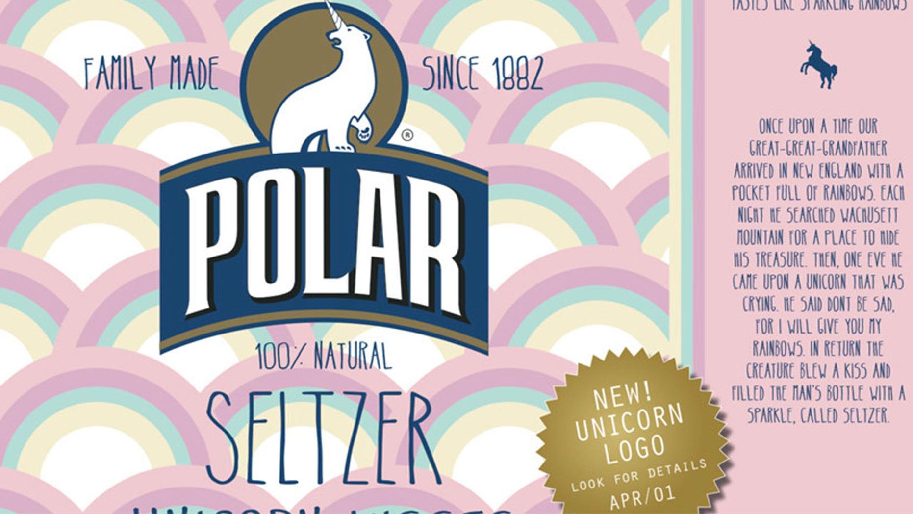 Bottles of Polar Seltzer's newest flavor, Unicorn Kisses, are creating a stir among fans.