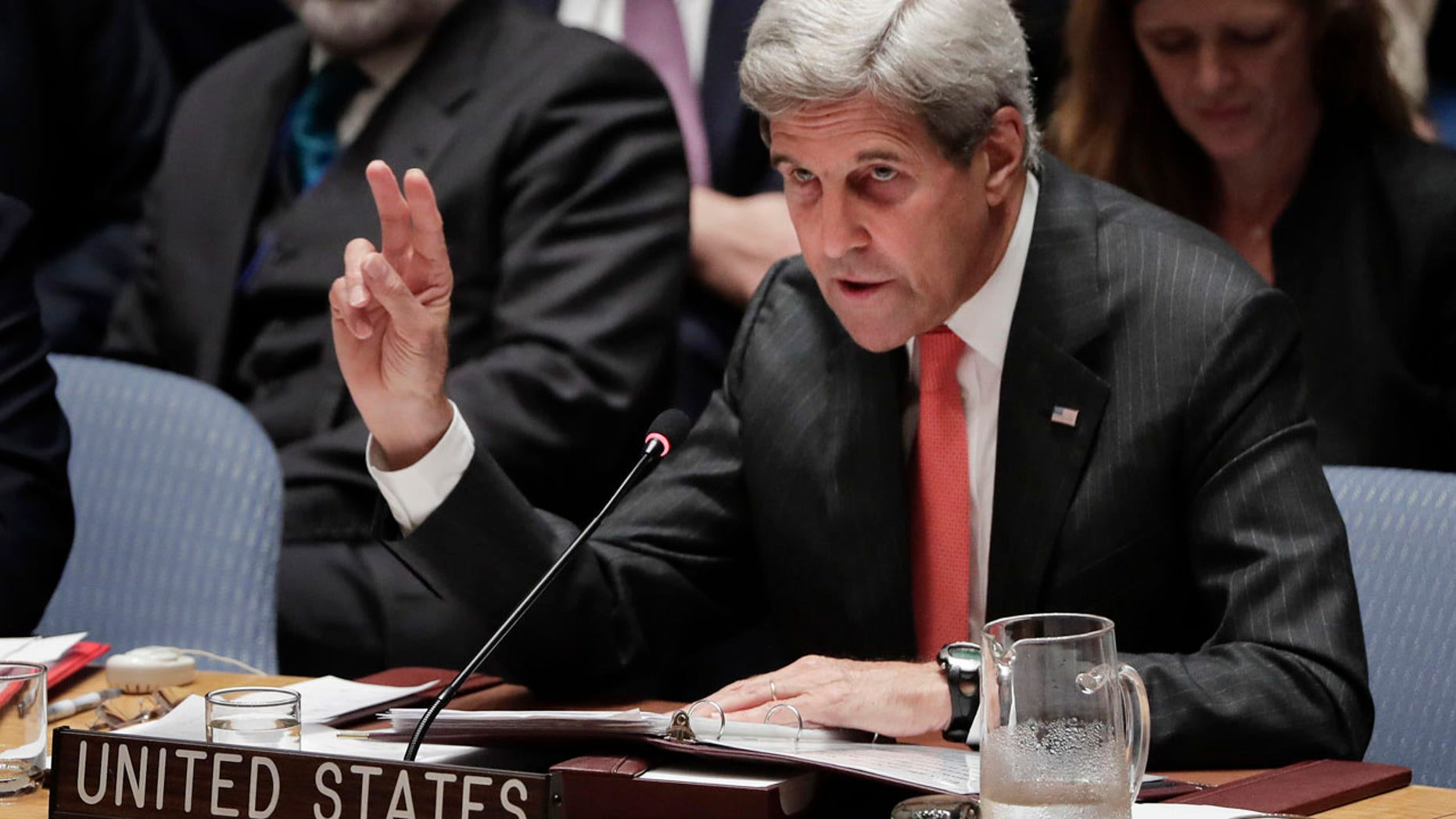 Sept. 21, 2016: U.S Secretary of State John Kerry speaks during a Security Council meeting at U.N. headquarters.