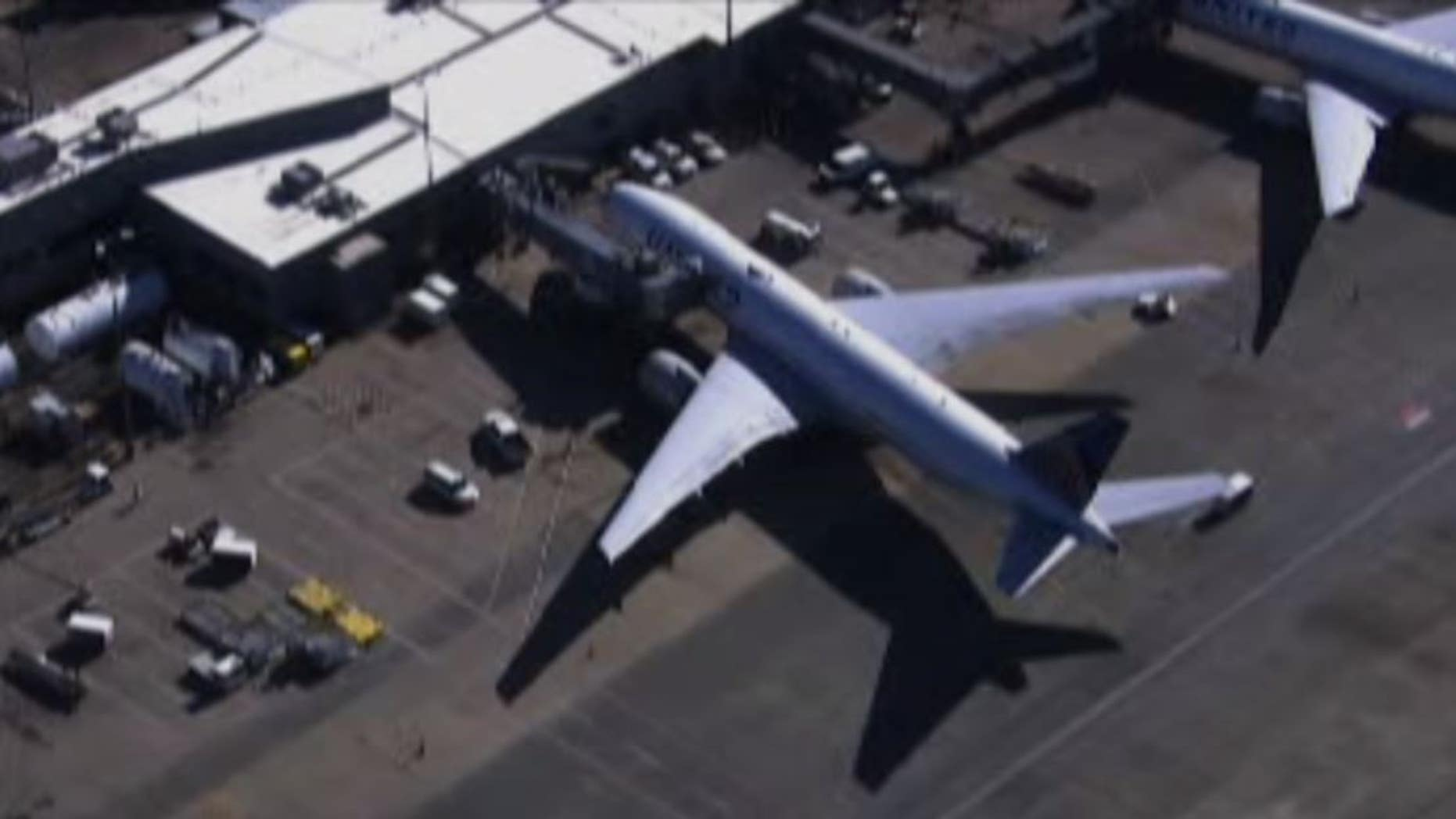 A fuel truck slamming into a United plane delayed a scheduled flight at Washington Dulles International Airport.