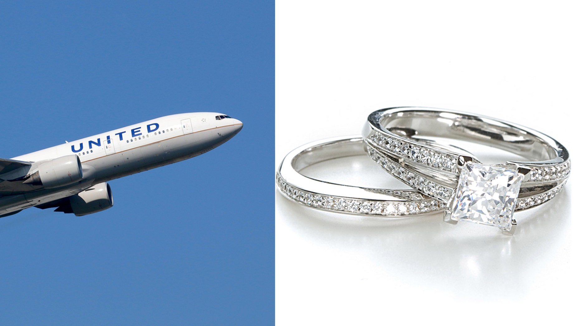 """One California woman had her """"faith in humanity and airlines"""" restored after a United Airlines pilot hand delivers her missing wedding and engagement ring to her."""