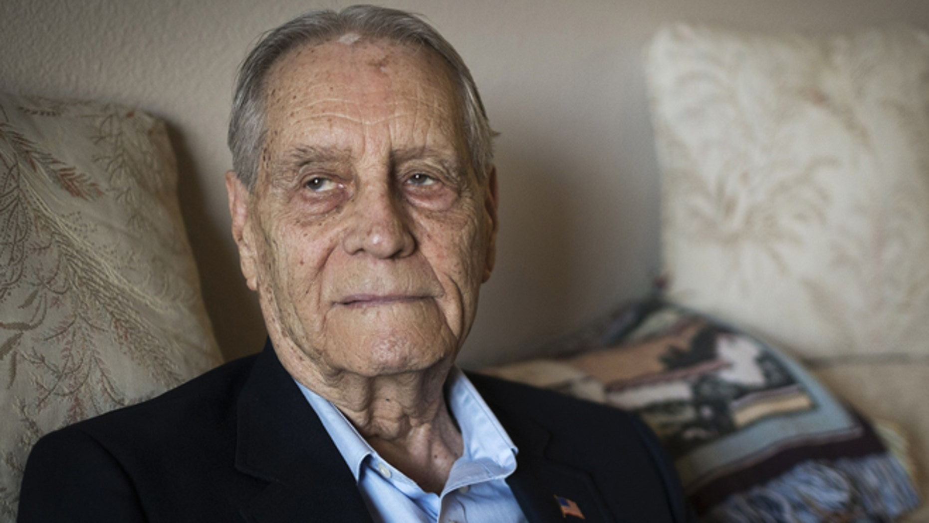 July 16, 2015: James Murphy, World War II veteran and prisoner of war, is photographed at his home in Santa Maria, Calif.
