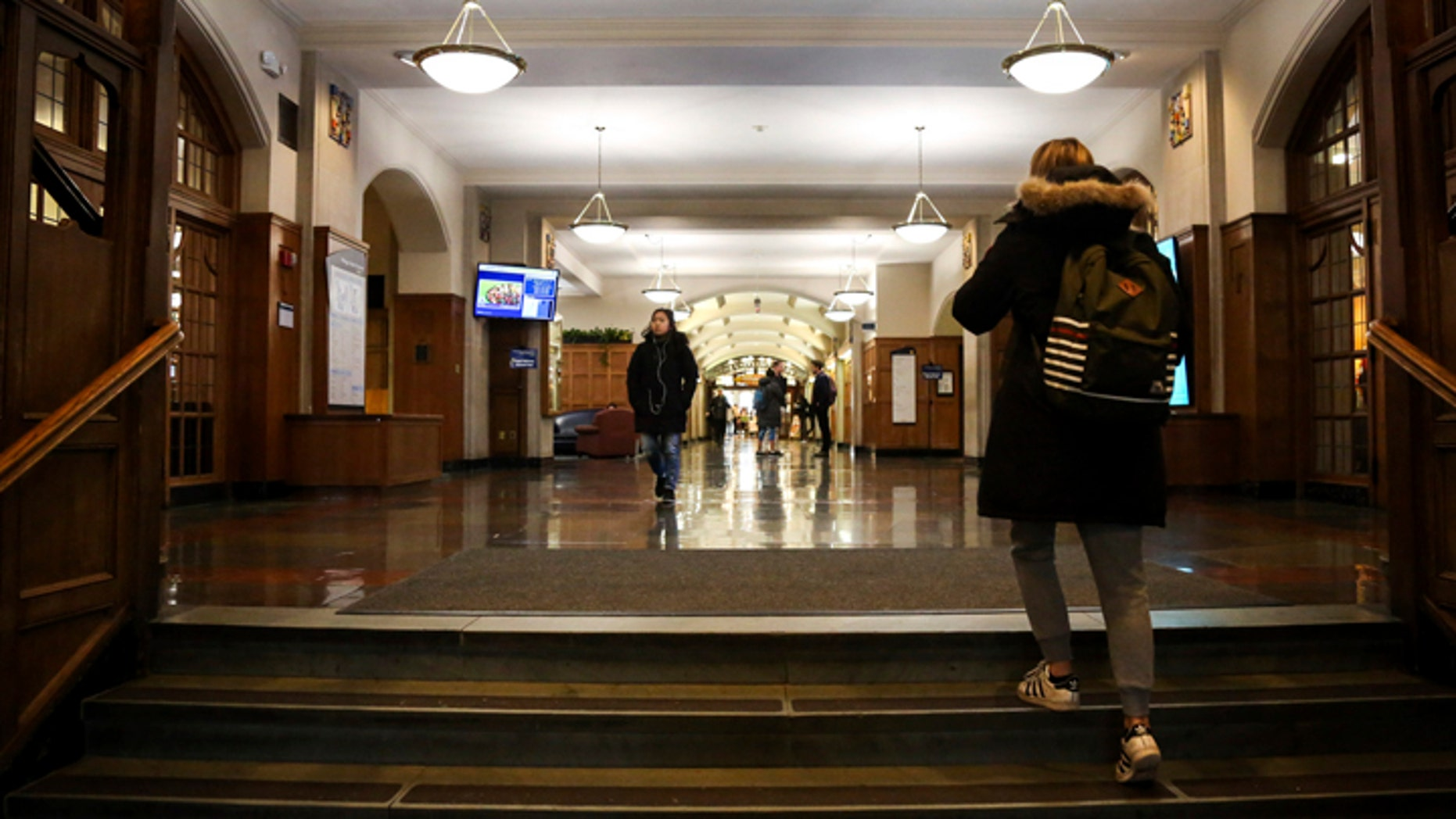 Students enter the University of Michigan Union on Tuesday, Dec. 5, 2017.