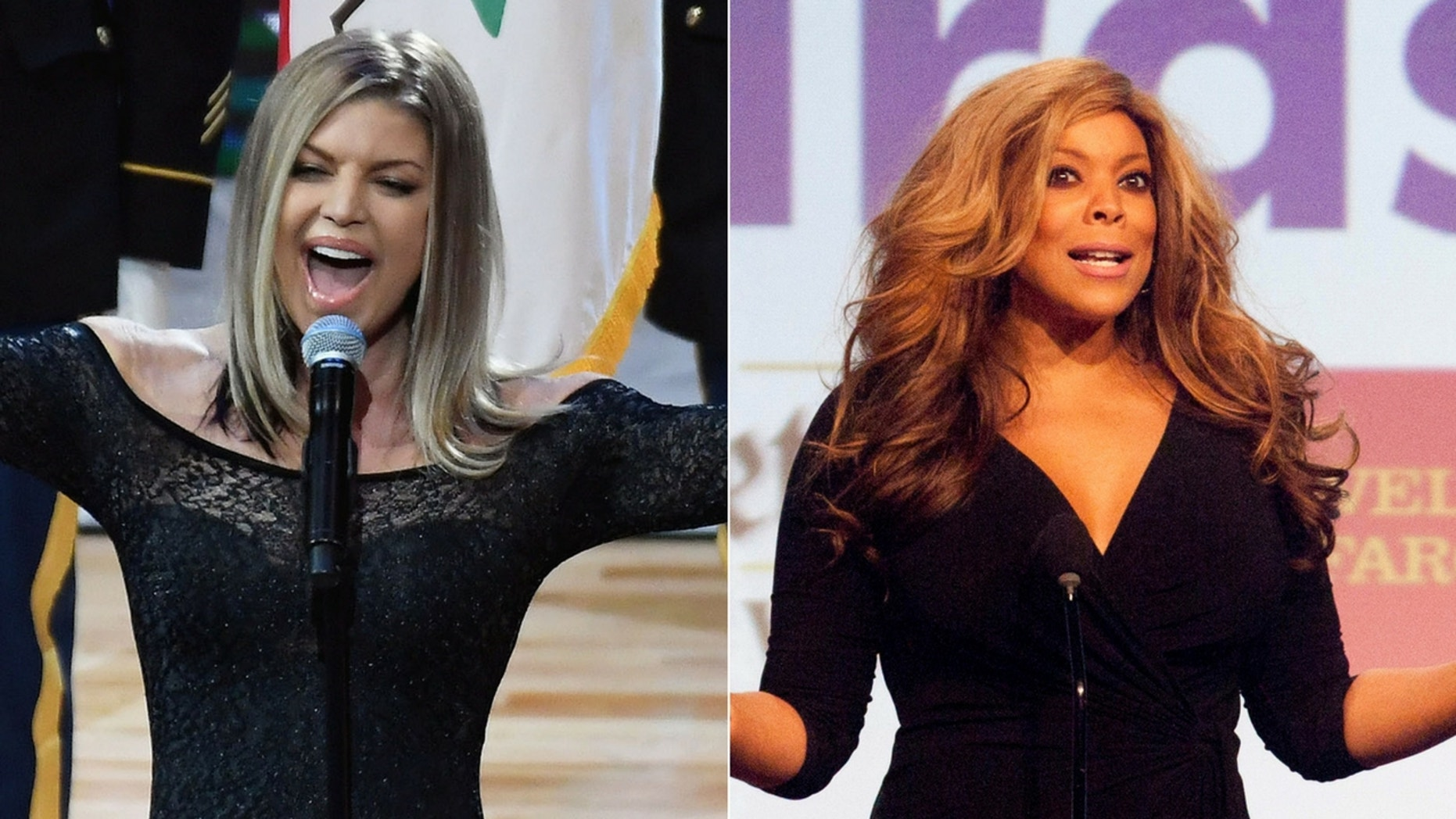 """Wendy Williams said Fergie needs """"auto-tune"""" after national anthem debacle."""