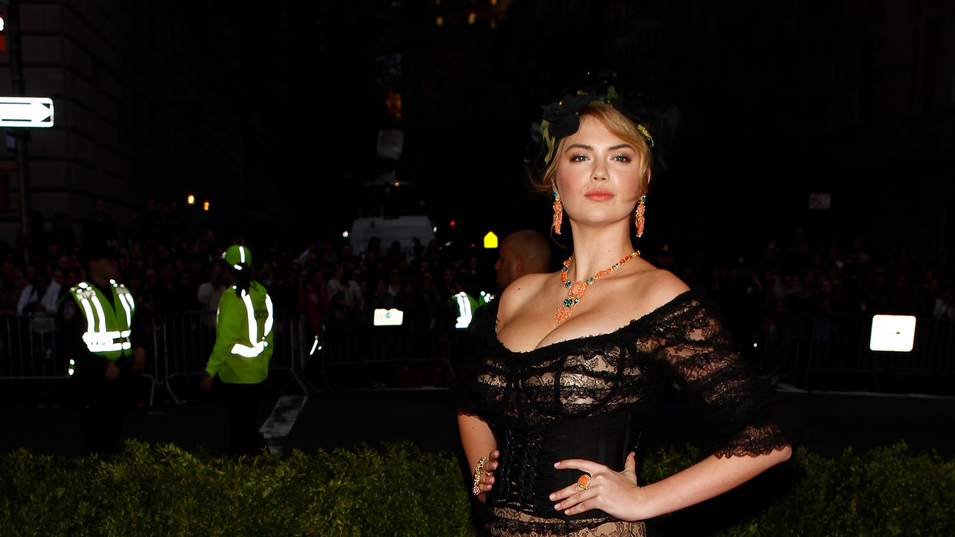 May 5. Kate Upton arrives at the Metropolitan Museum of Art Costume Institute Gala Benefit in New York.