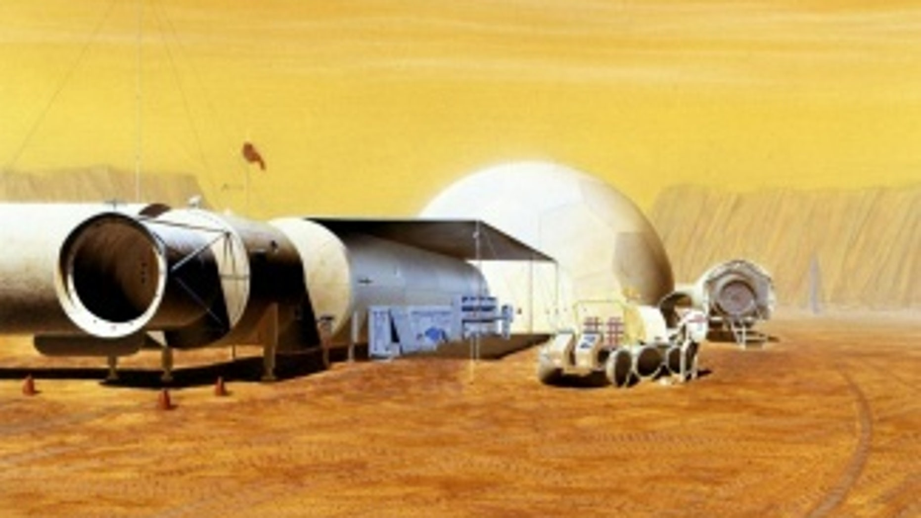 An inflatable structure would be ideal for the months-long journey to Mars.