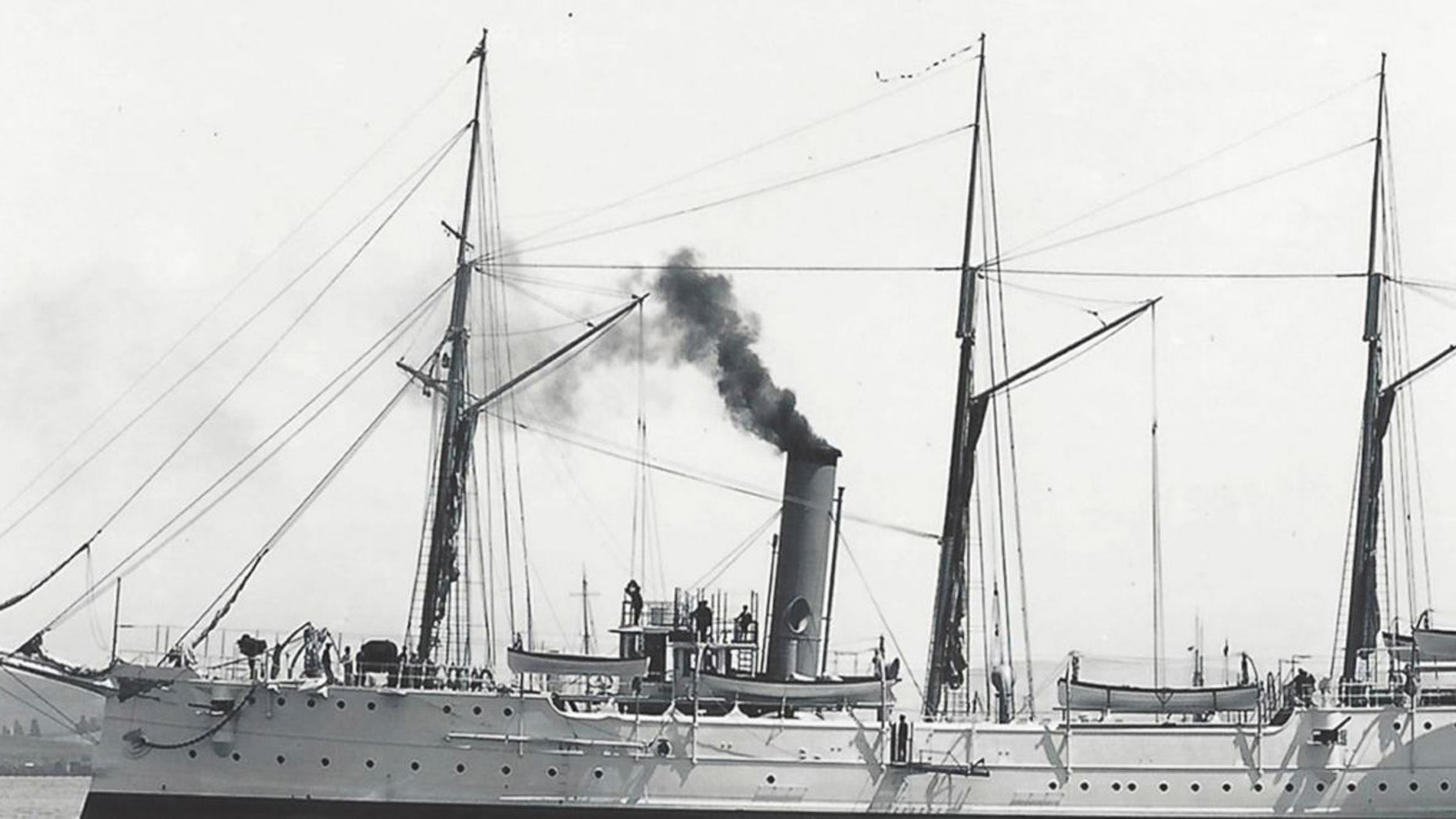 This undated image provided by NOAA shows the USCG Cutter McCulloch that was launched in 1896. Researchers discovered the remains of a San Francisco-based U.S. Coast Guard cutter that first set out to sea during the Spanish American War and sank off the coast of Southern California 100 years ago, officials announced. On Tuesday, June 13, 2017, officials will host a news conference to highlight the ship's history and to pay tribute to the ship and its crews, including two crewmen who died in the line of duty. (NOAA/Mare Island Museum via AP)