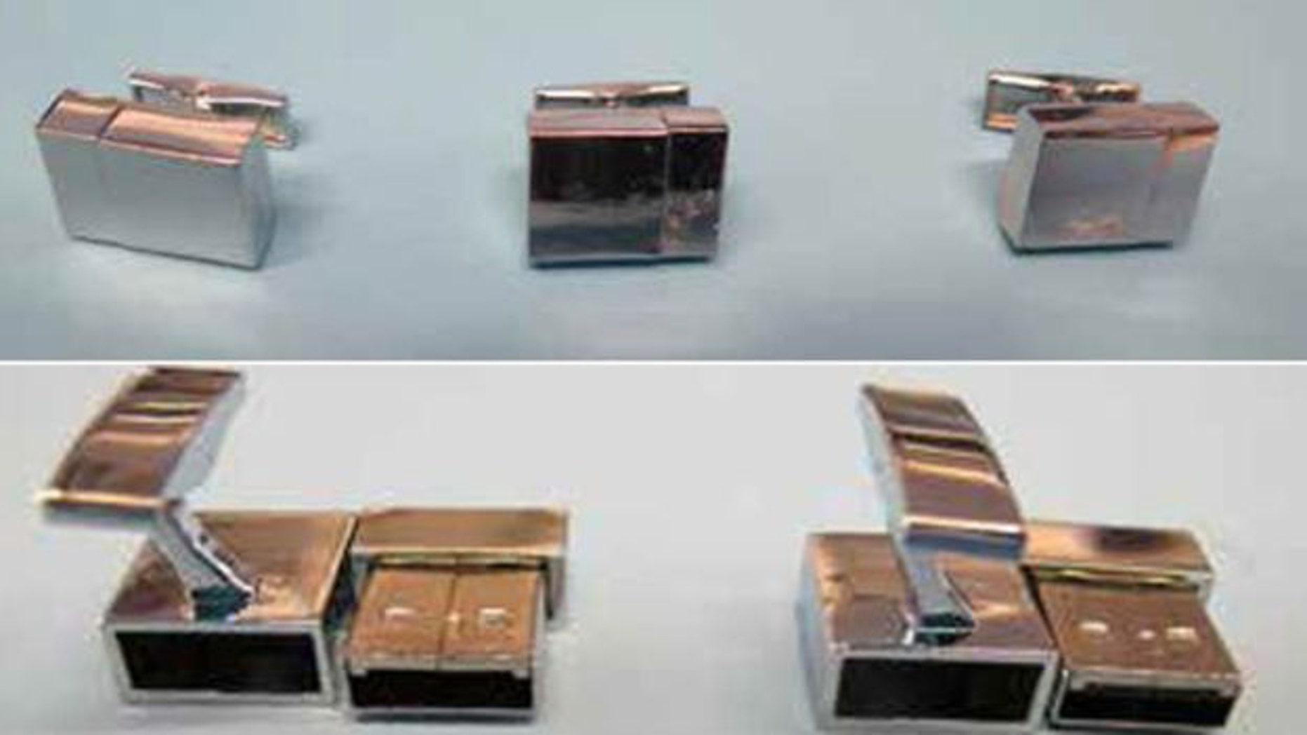 Some of the 60 USB cufflinks seized by police.