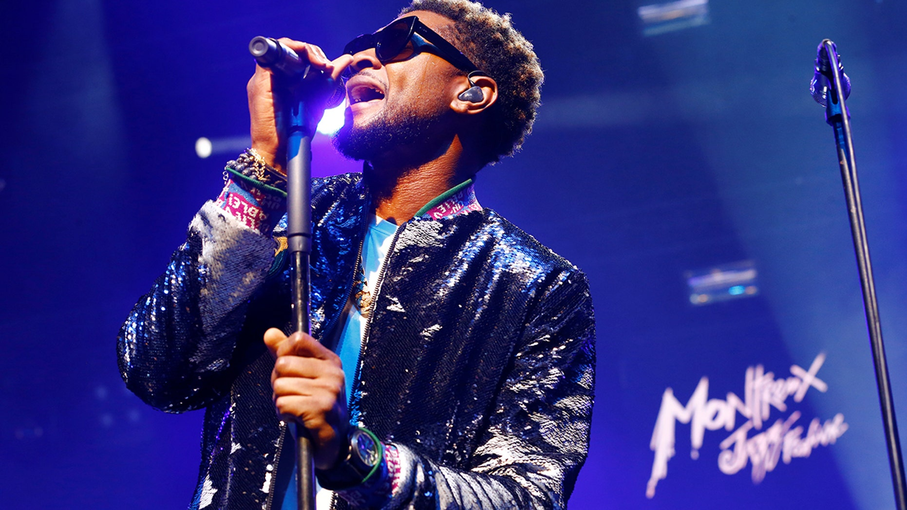Usher & The Roots perform during the 51st Montreux Jazz Festival in Montreux, Switzerland, July 5, 2017.