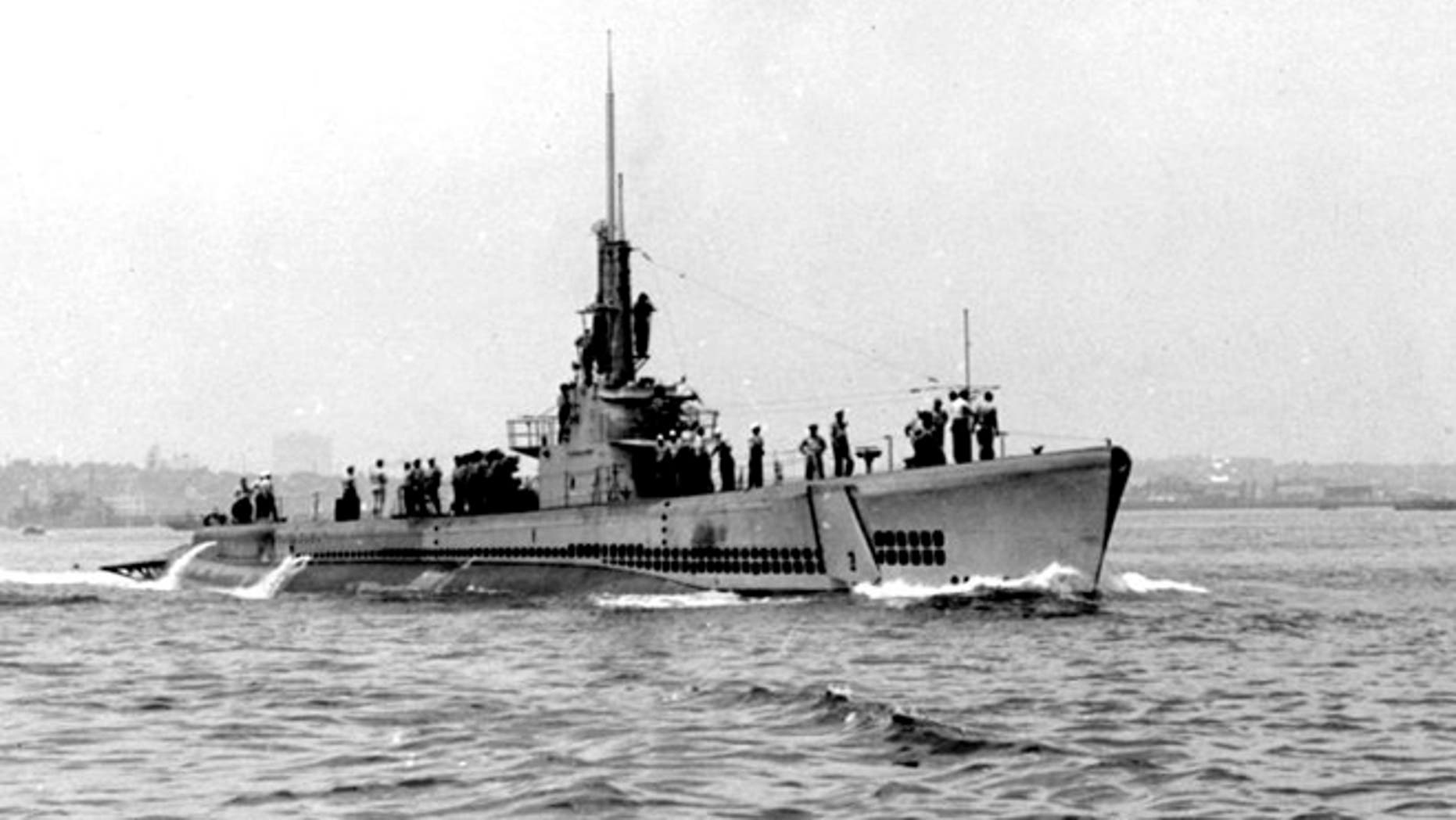 The NJ Naval Museum is home to USS Ling submarine, shown in 1945 photo. (U.S. Navy)