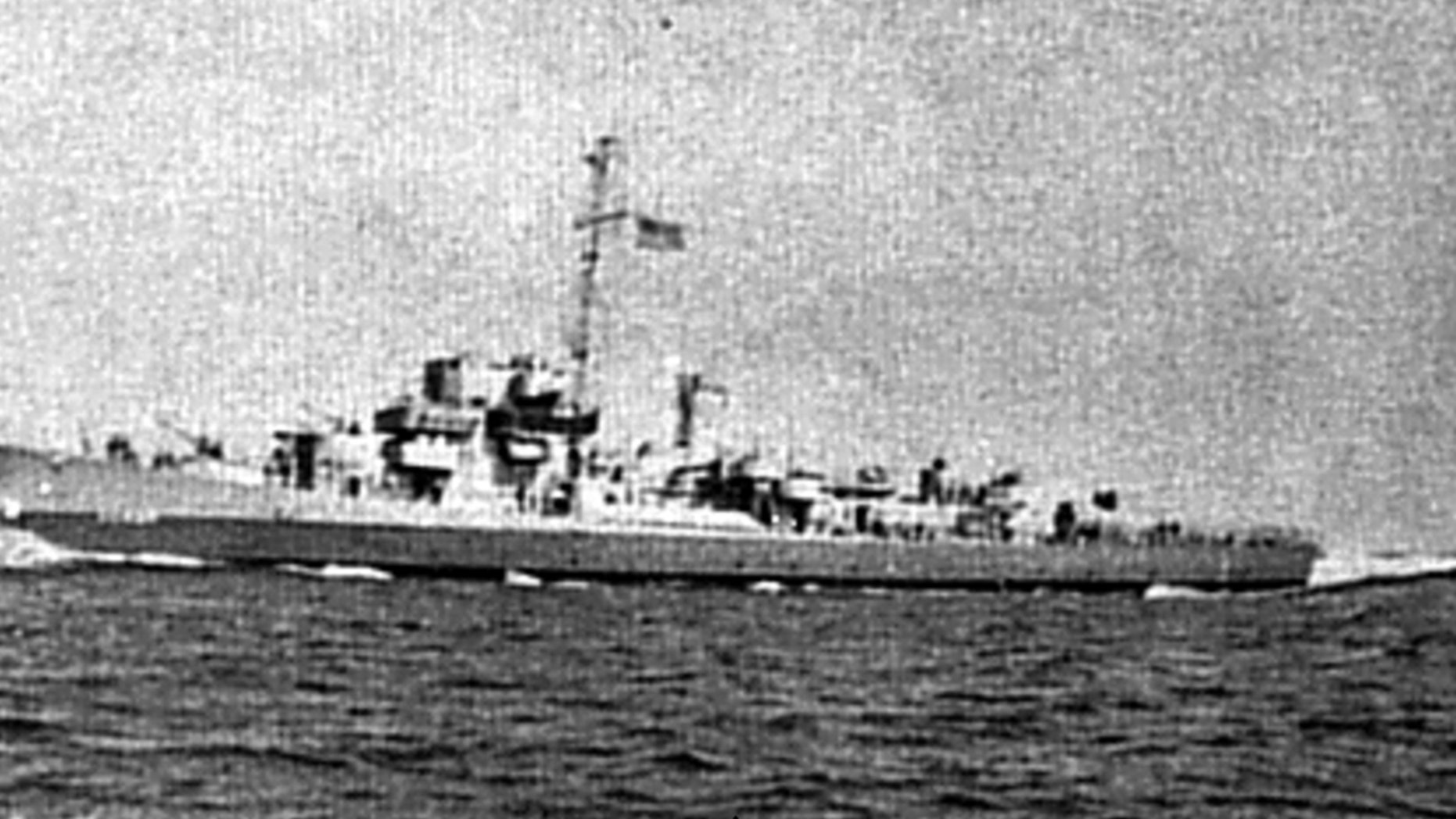 Earl Harvey Hanson was on the USS Rich, pictured here, when it came under attack.