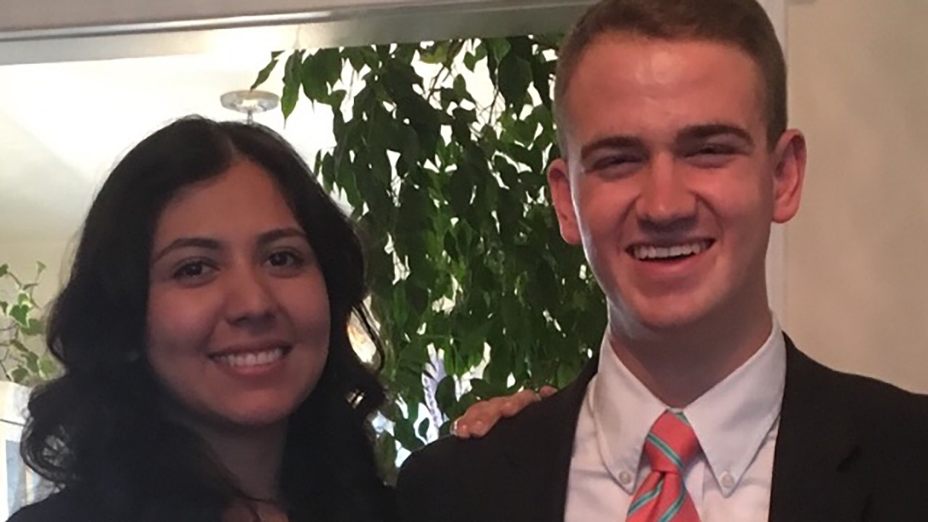 Wesley Kratzer, right, pictured with his wife.