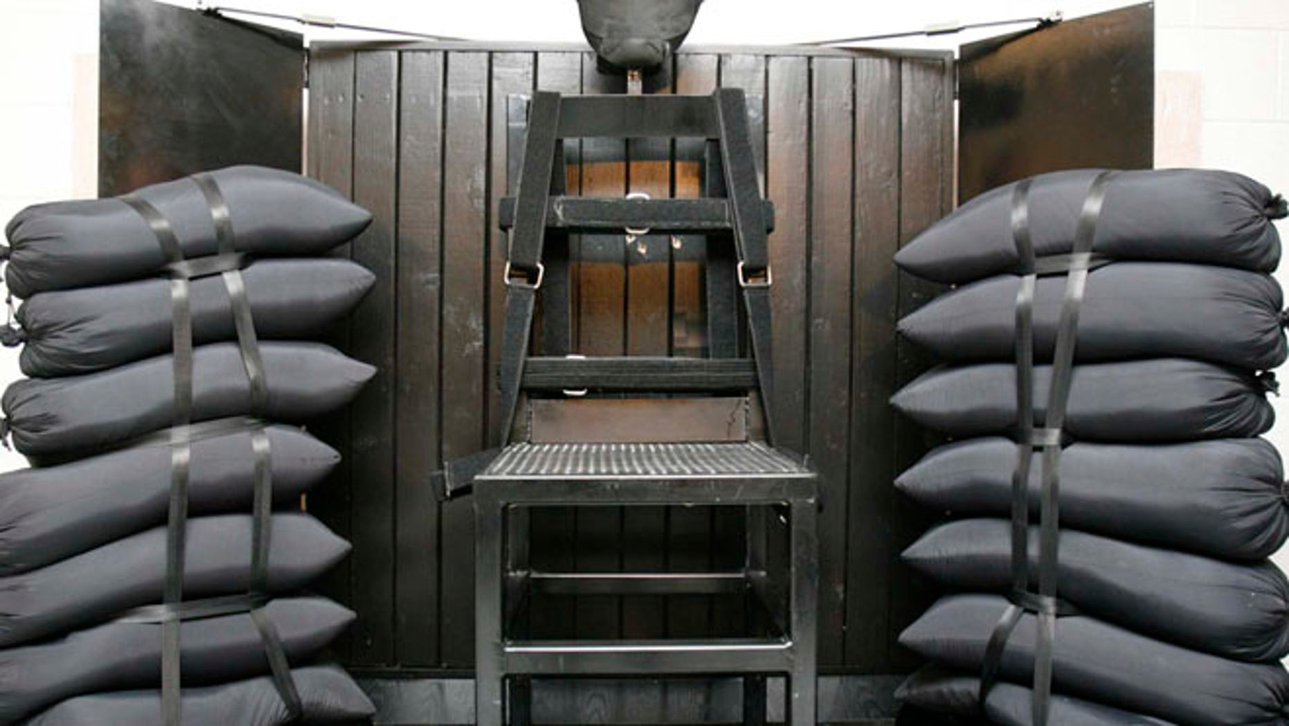 June 18, 2010: File photo shows the firing squad execution chamber at the Utah State Prison in Draper, Utah. (AP)