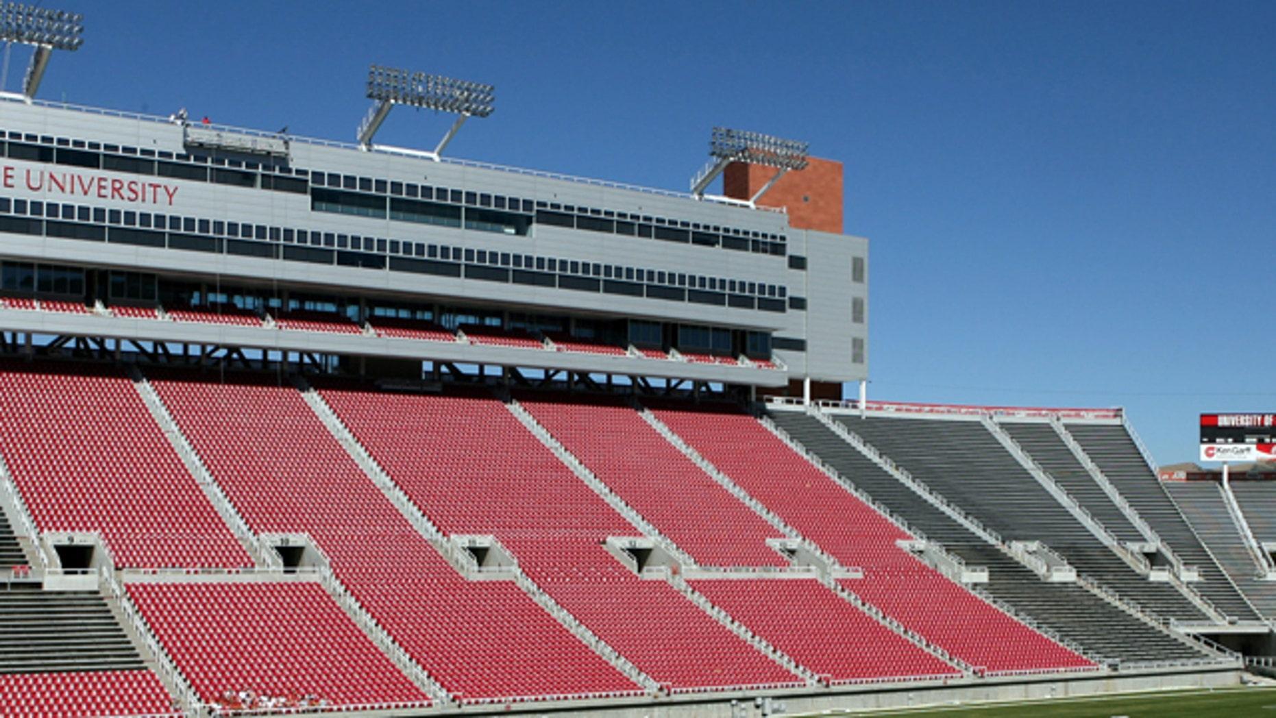 The Unversity of Utah's Rice-Eccles Stadium in Salt Lake City.