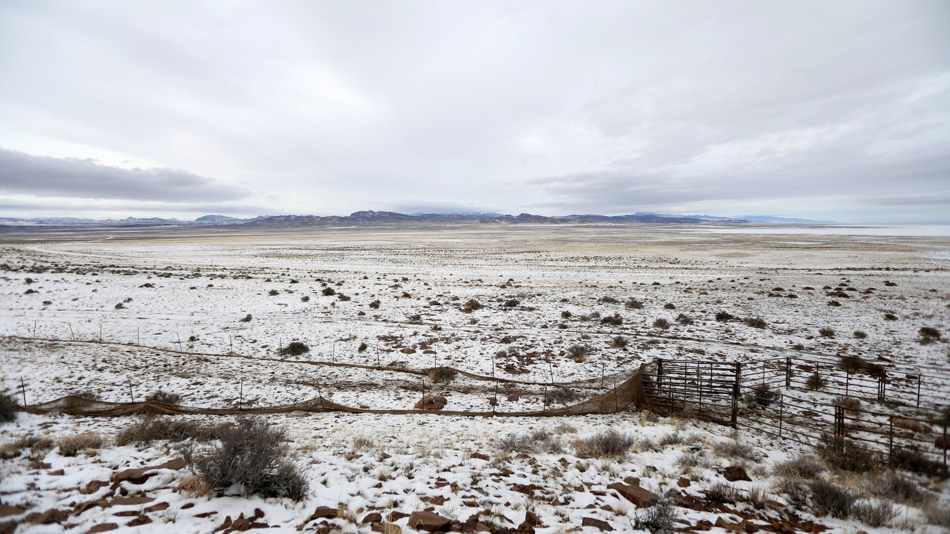 File photo - The trap corral is seen in the Wah Wah Valley where wild horses were herded during a Bureau of Land Management round-up outside Milford, Utah, U.S., Jan. 8, 2017. (REUTERS/Jim Urquhart)
