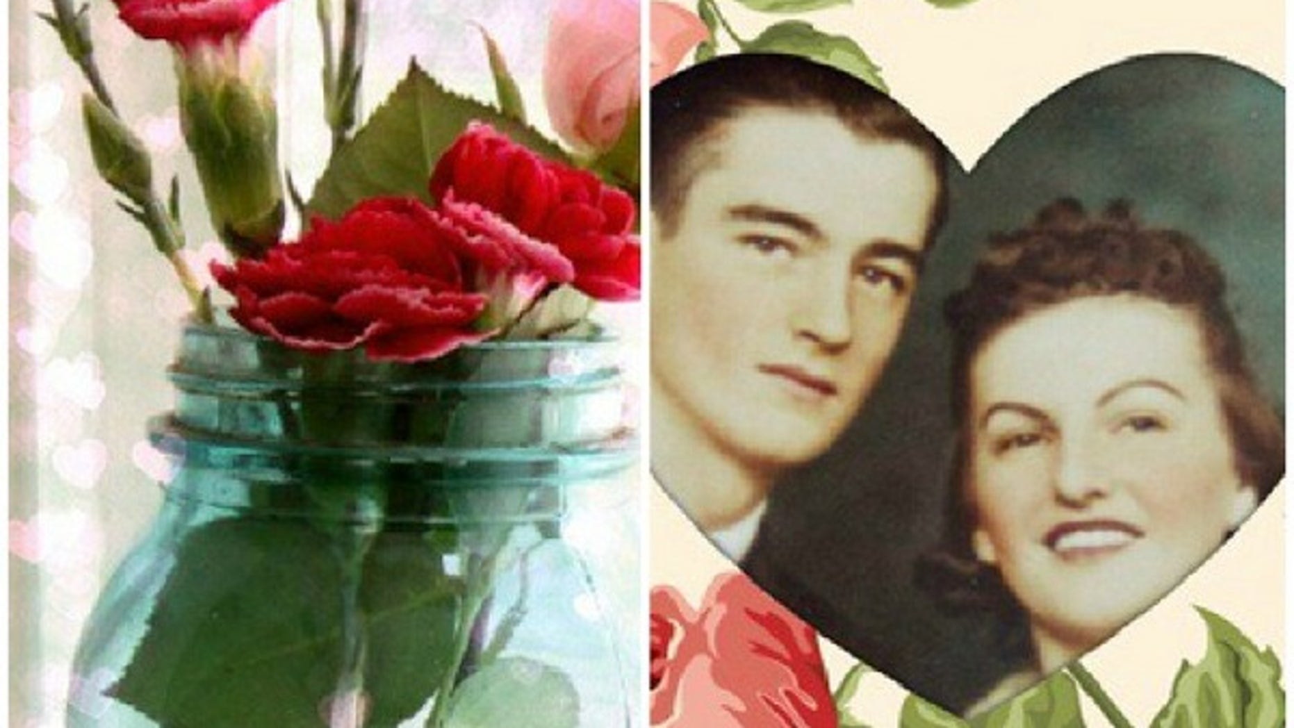 Valentine special effects from PicMonkey: Bokeh heart lights (left) and photo cutouts (right)